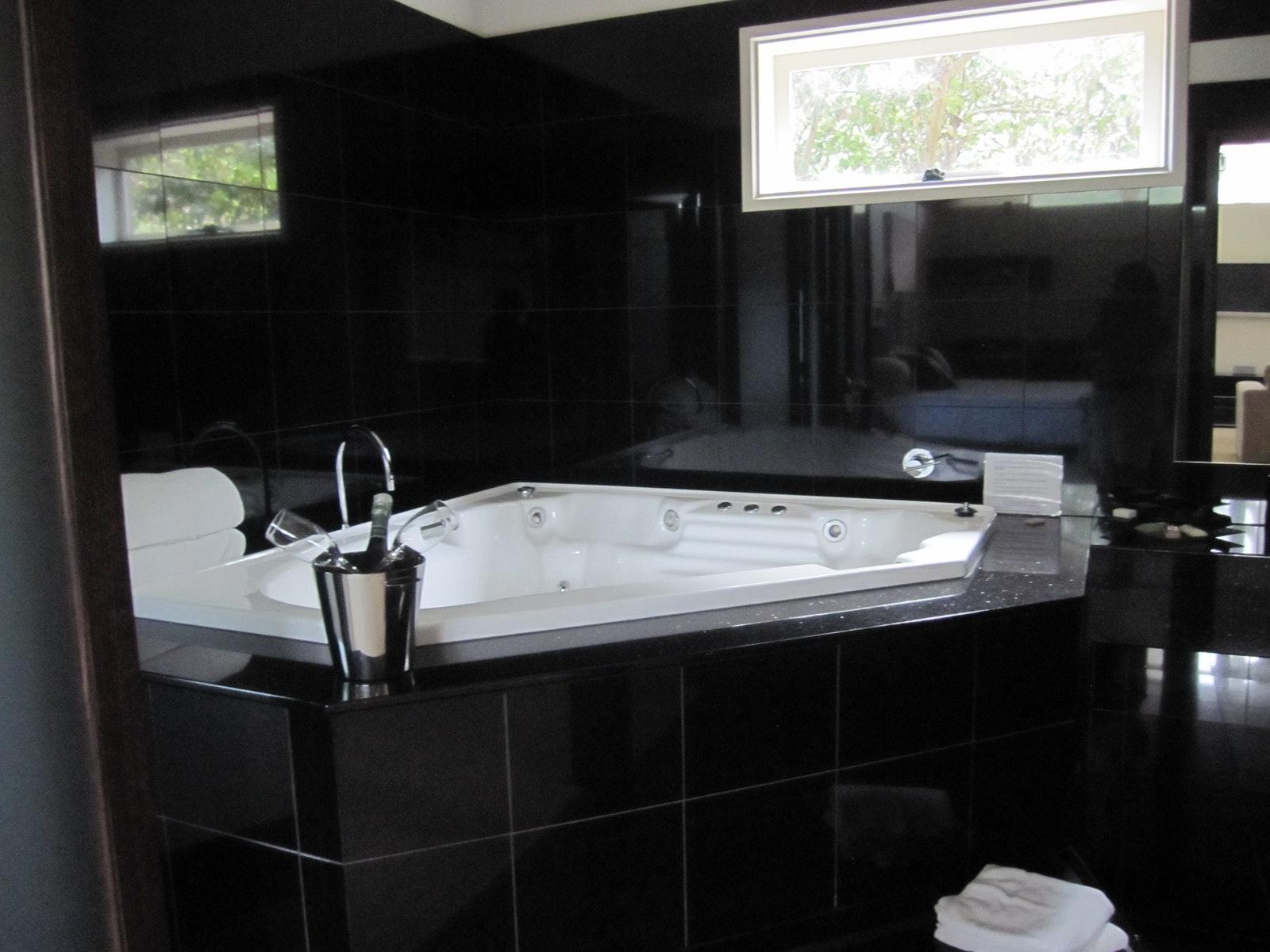 Enjoy a relaxing spa bath