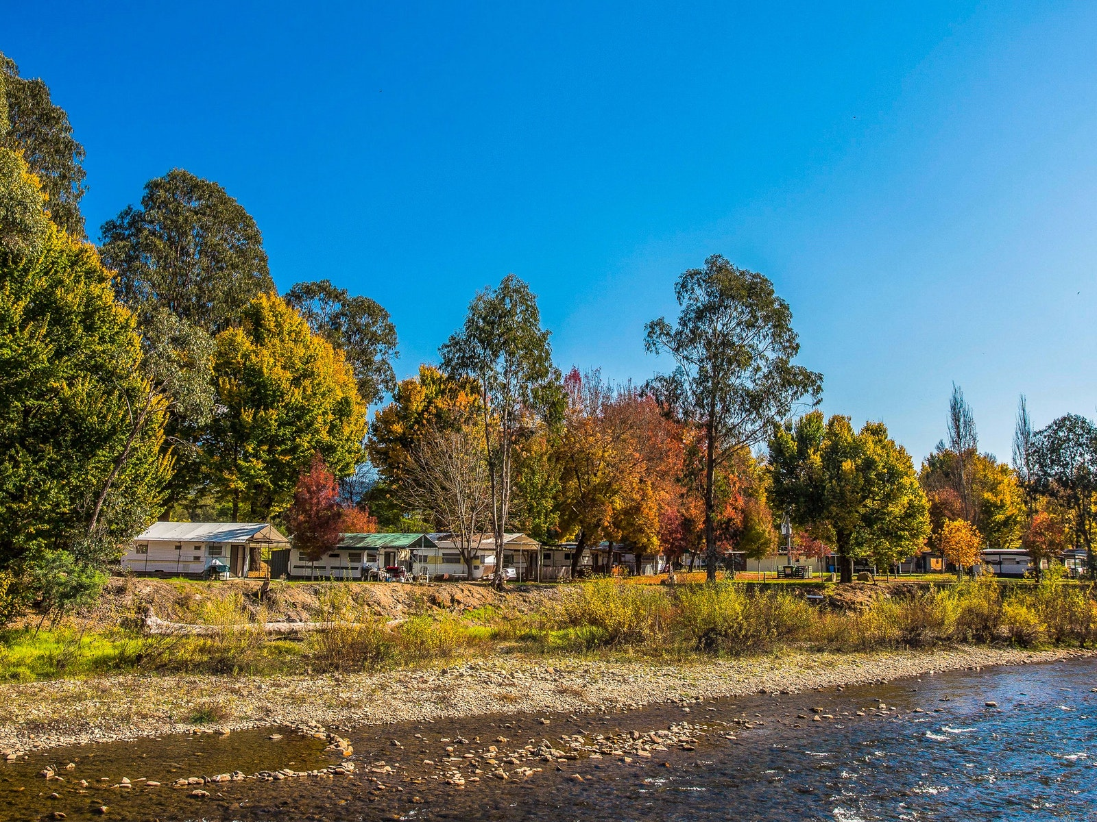 Park next to the Ovens River