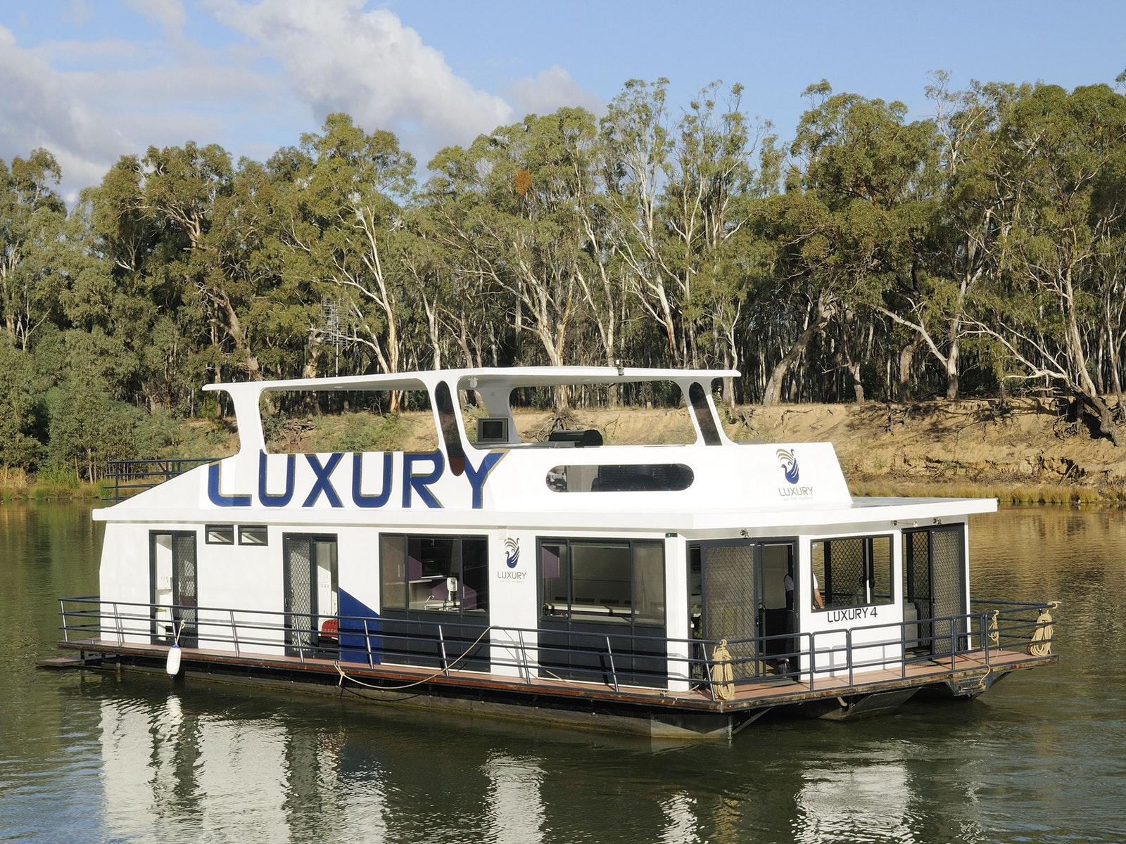 Houseboat floating on the Murray River