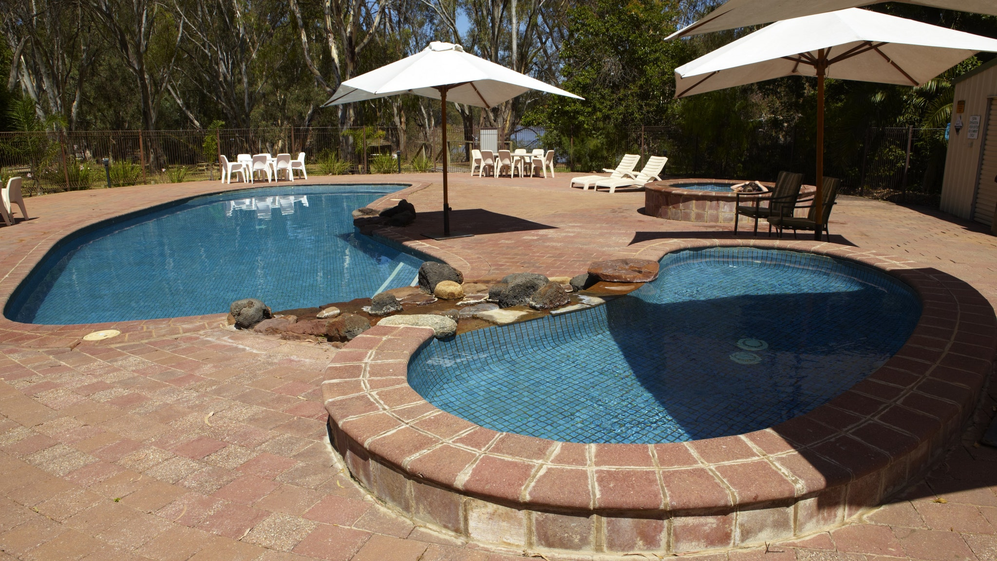 Relax and enjoy the pool and spa