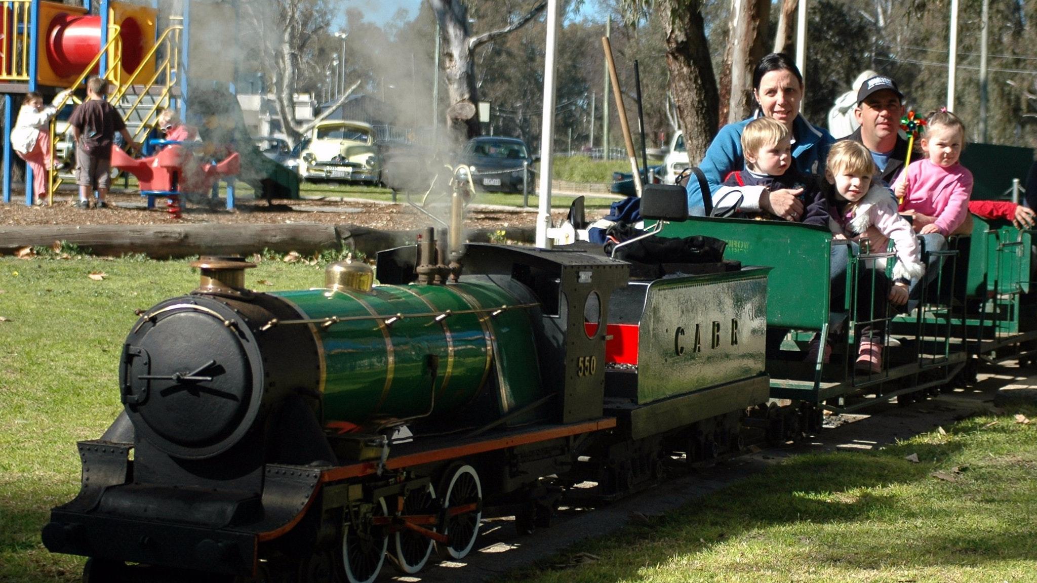 Corowa Apex Miniature Steam Train