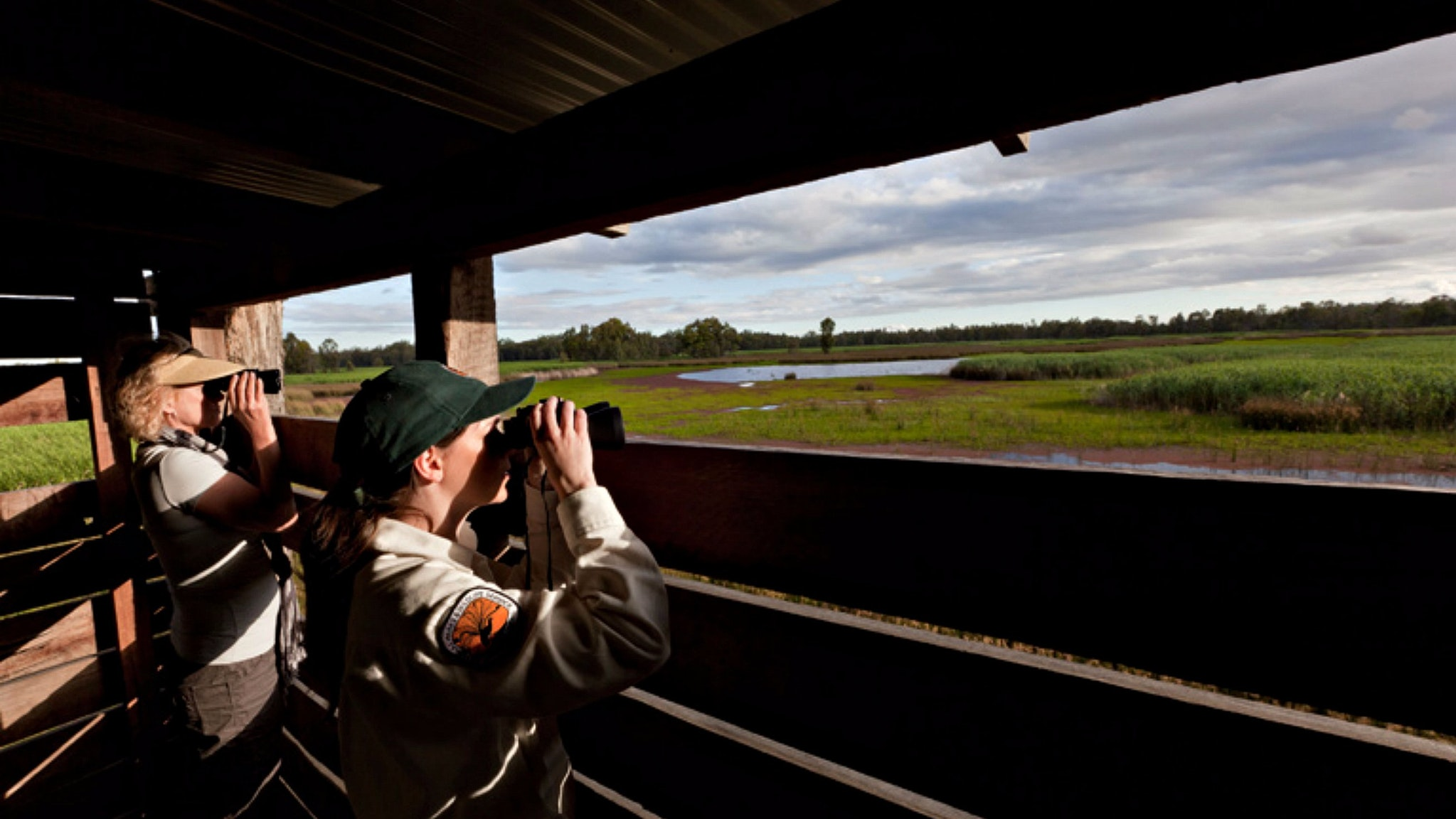 Reedbeds bird hide, Murray Valley National Park. Photo: David Finnegan