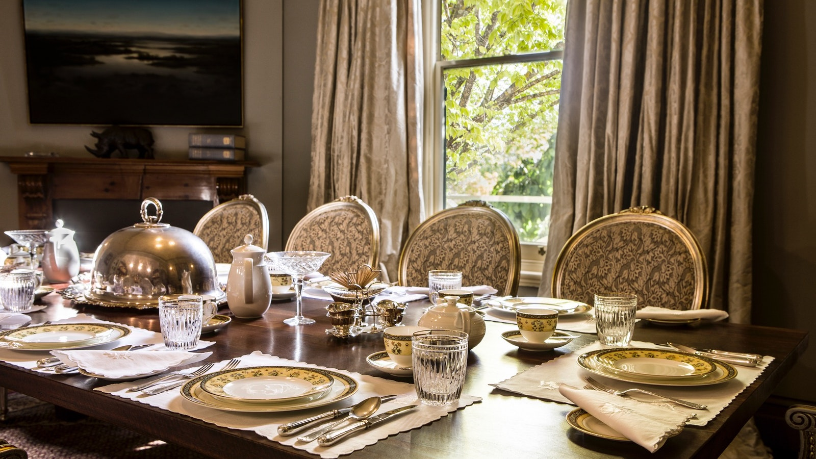 Breakfast is an event in the Holyrood dining room