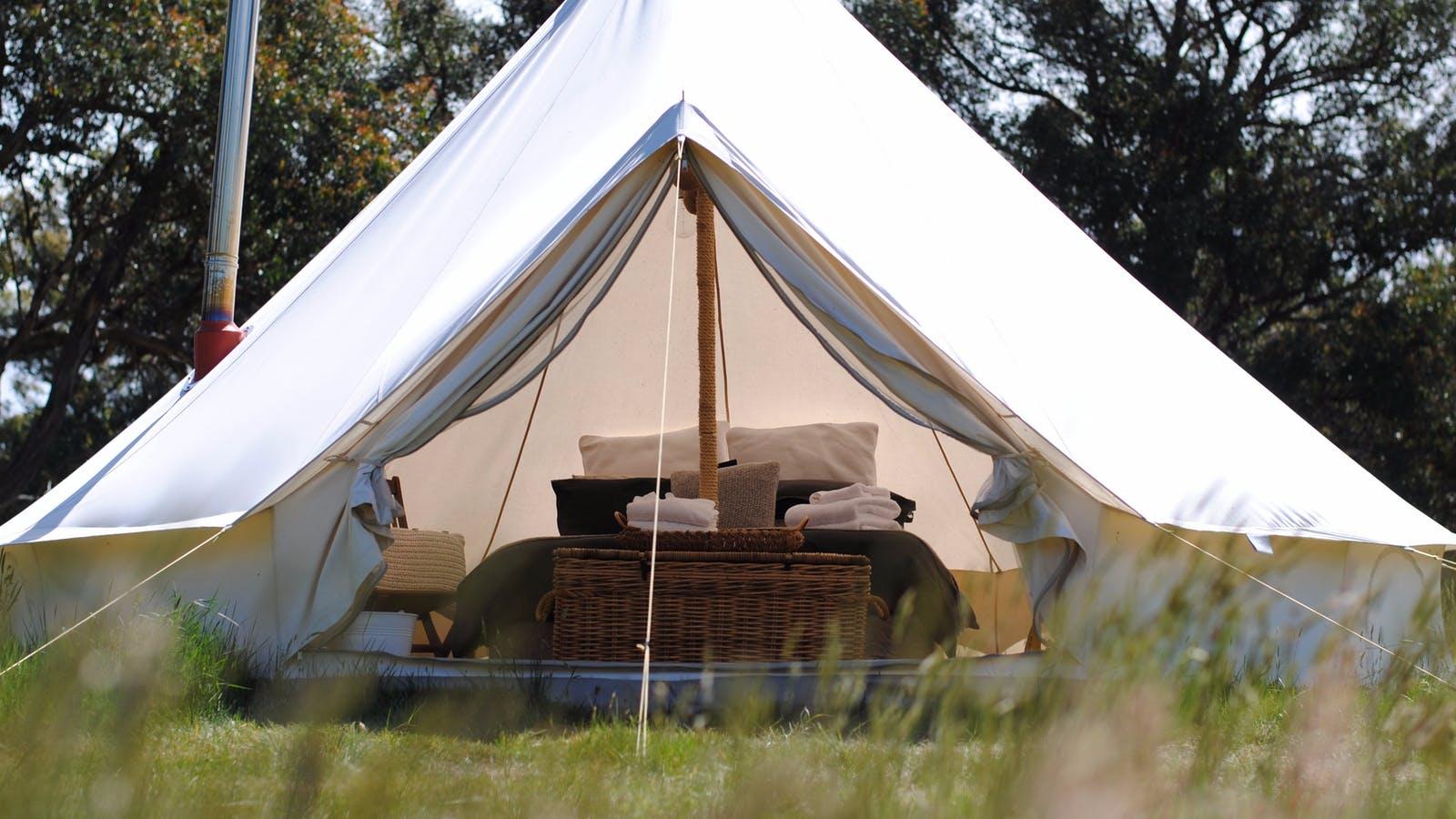 Cosy Tents - Inside five metre bell tent