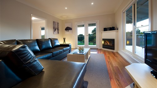 Welcoming living area with gas fire