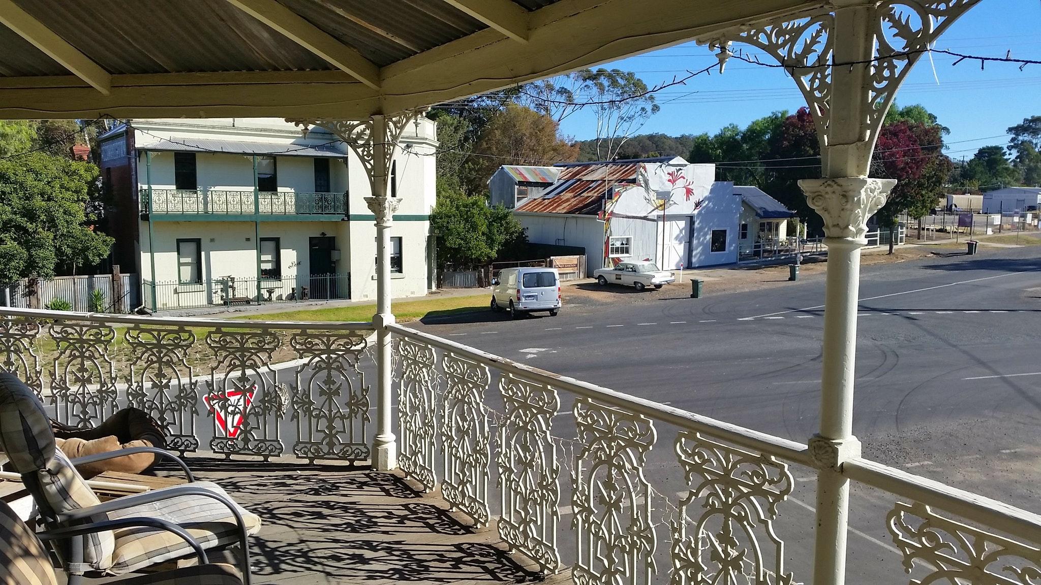 Tallarook Hotel Balcony