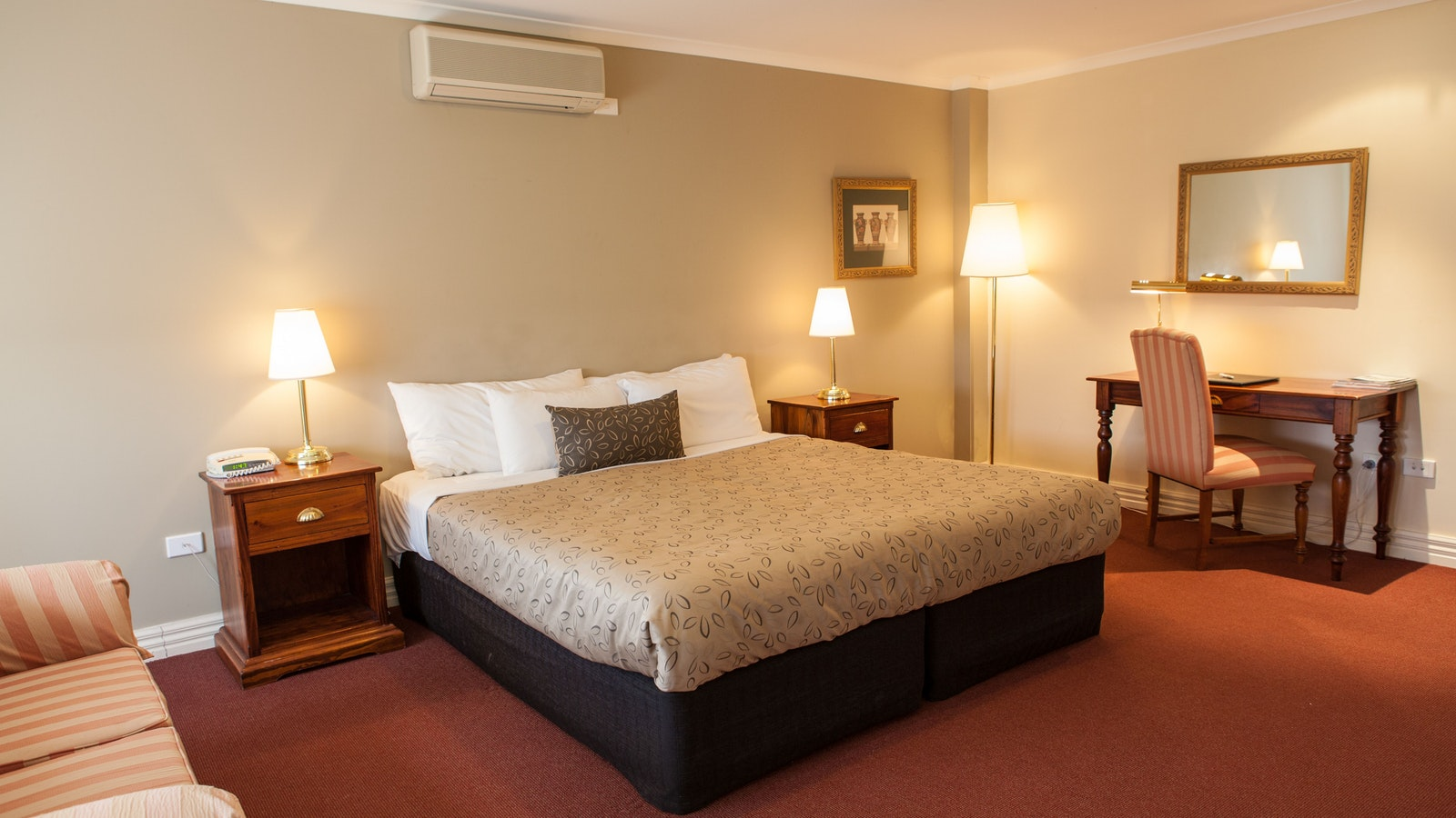 Guest rooms at Grange Cleveland Winery, Lancefield, Macedon Ranges
