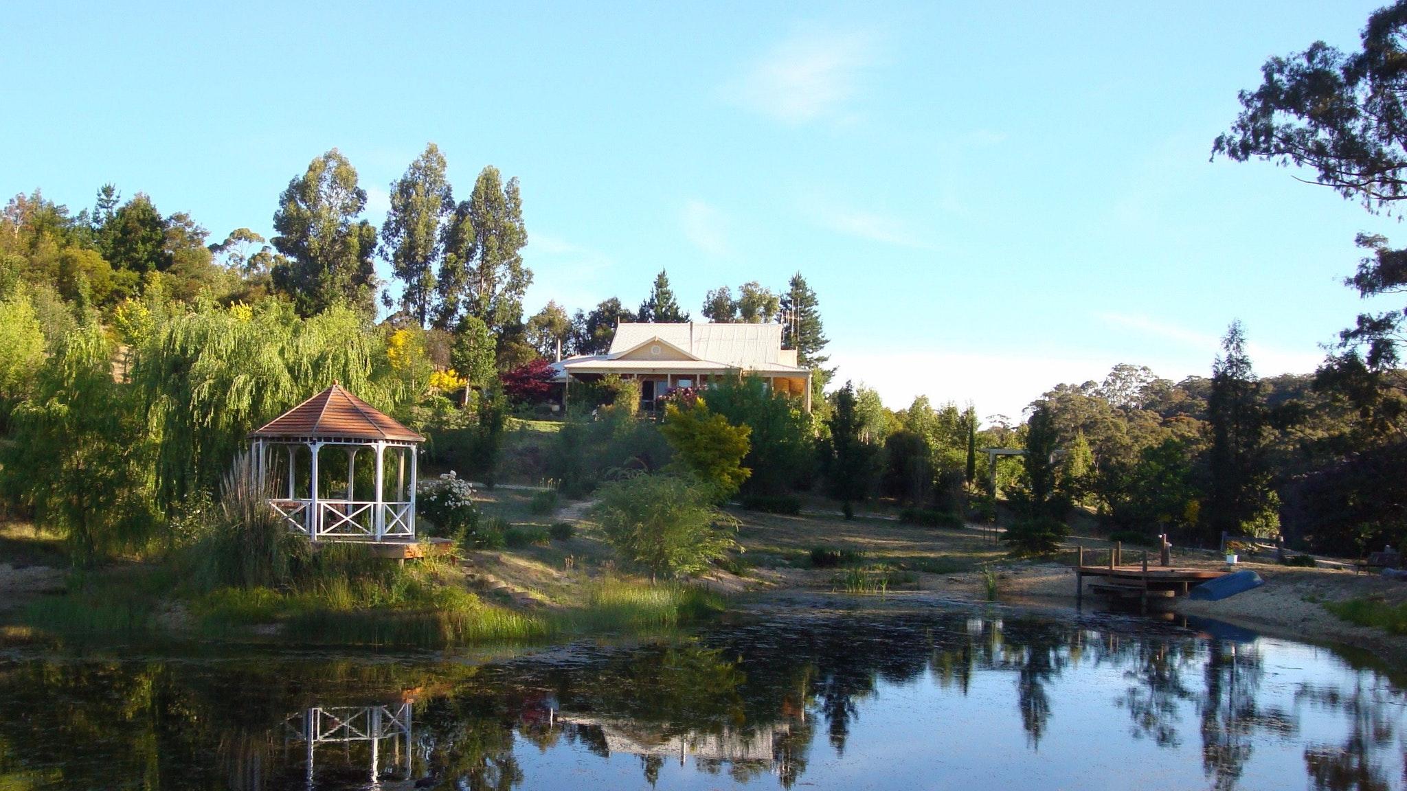 Lake, Gazebo & Gatsby House