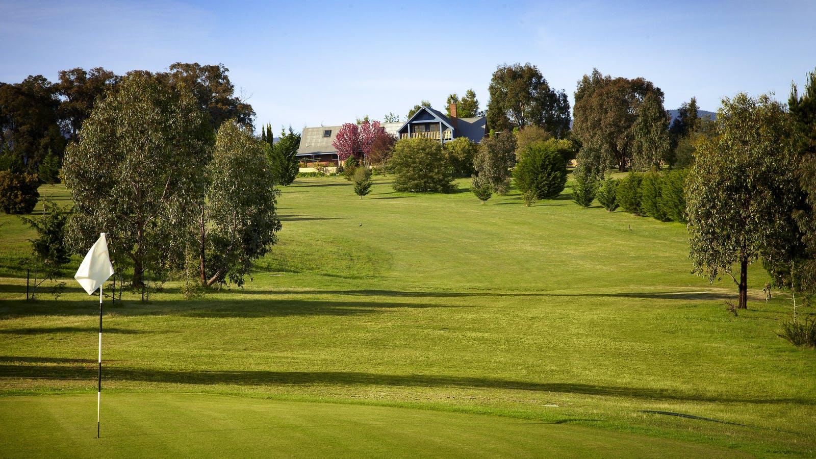 8th hole on golf course