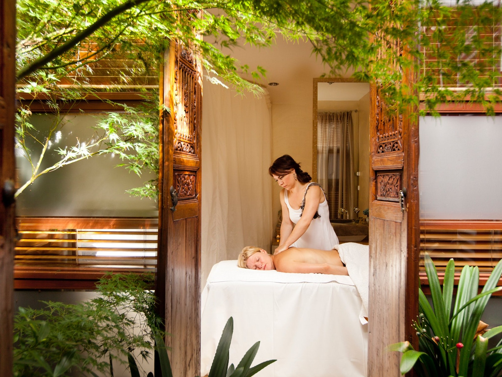 Enjoying your spa therapy
