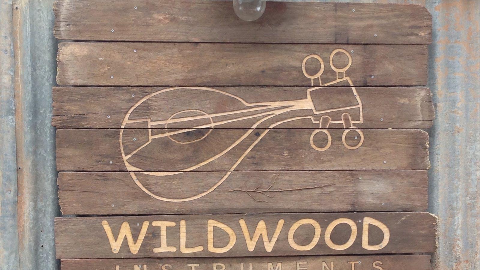 Wildwood Instruments wooden sign