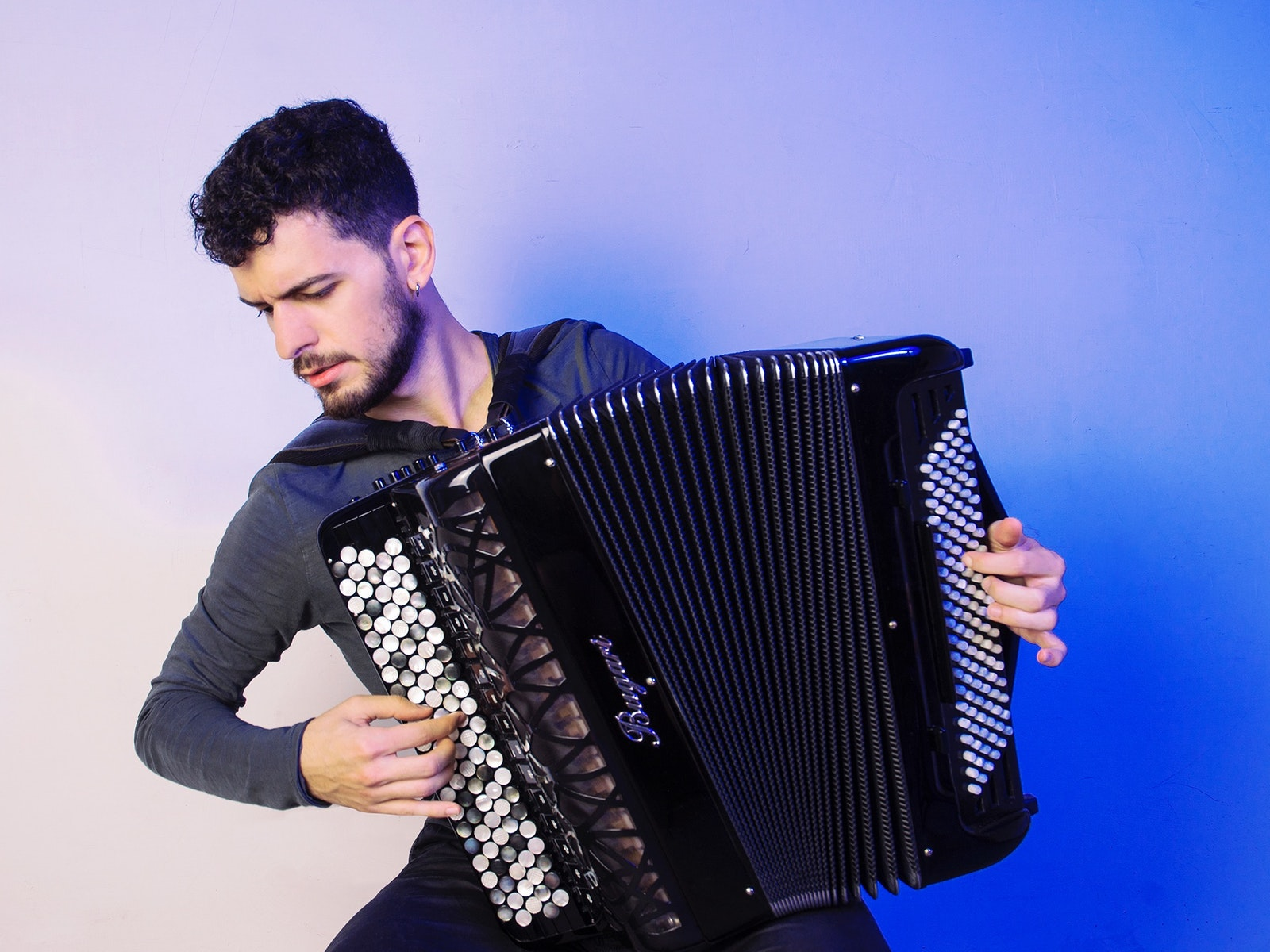 Pietro Roffi on classical accordion in a special dinner concert