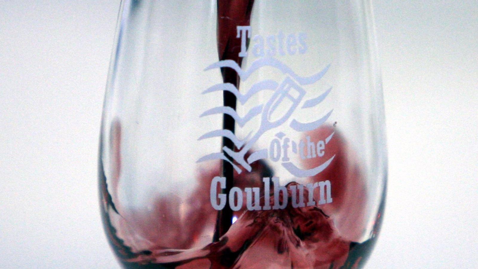 Tastes of the Goulburn wine glass