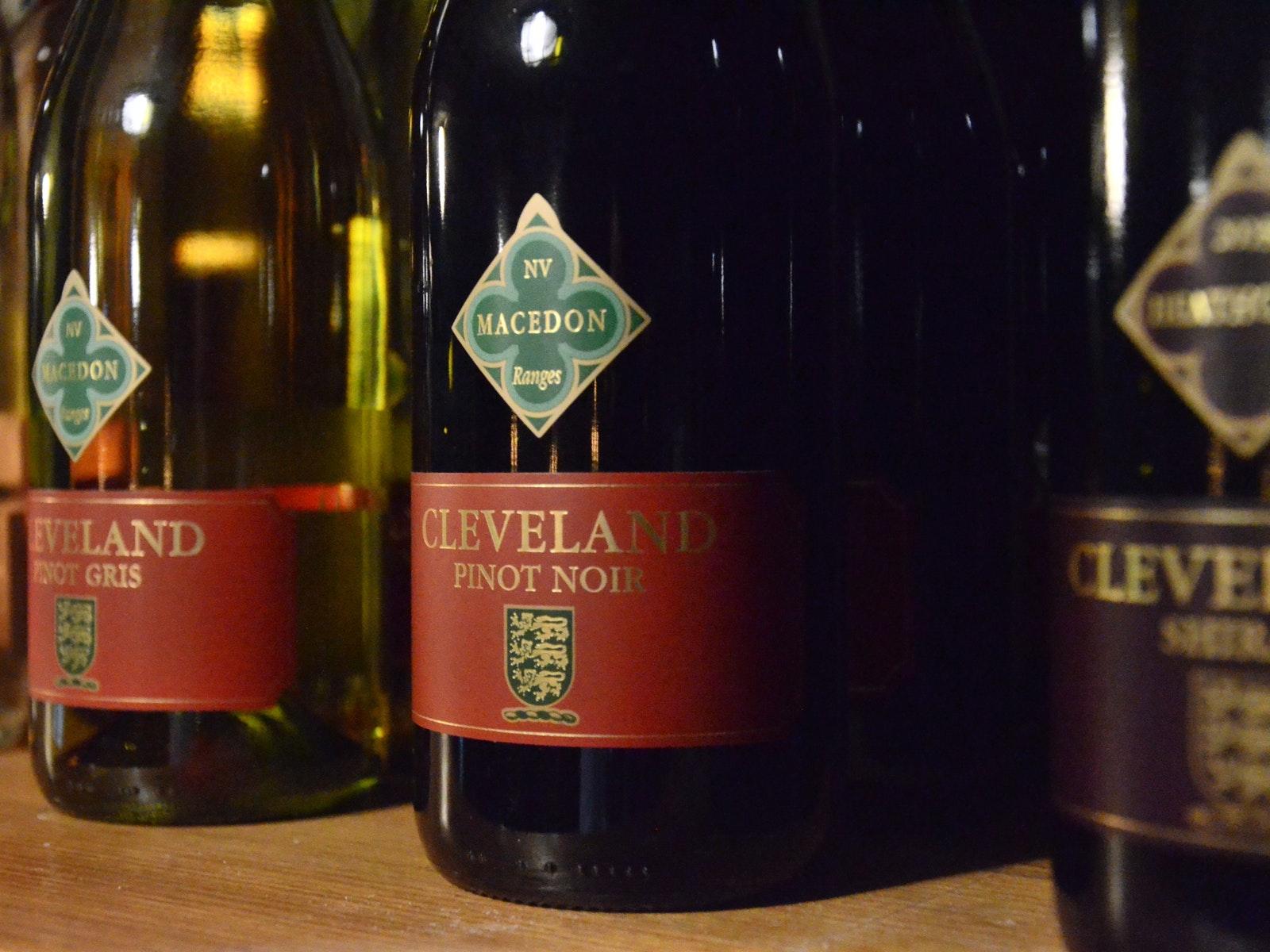 Cleveland Wine bottles