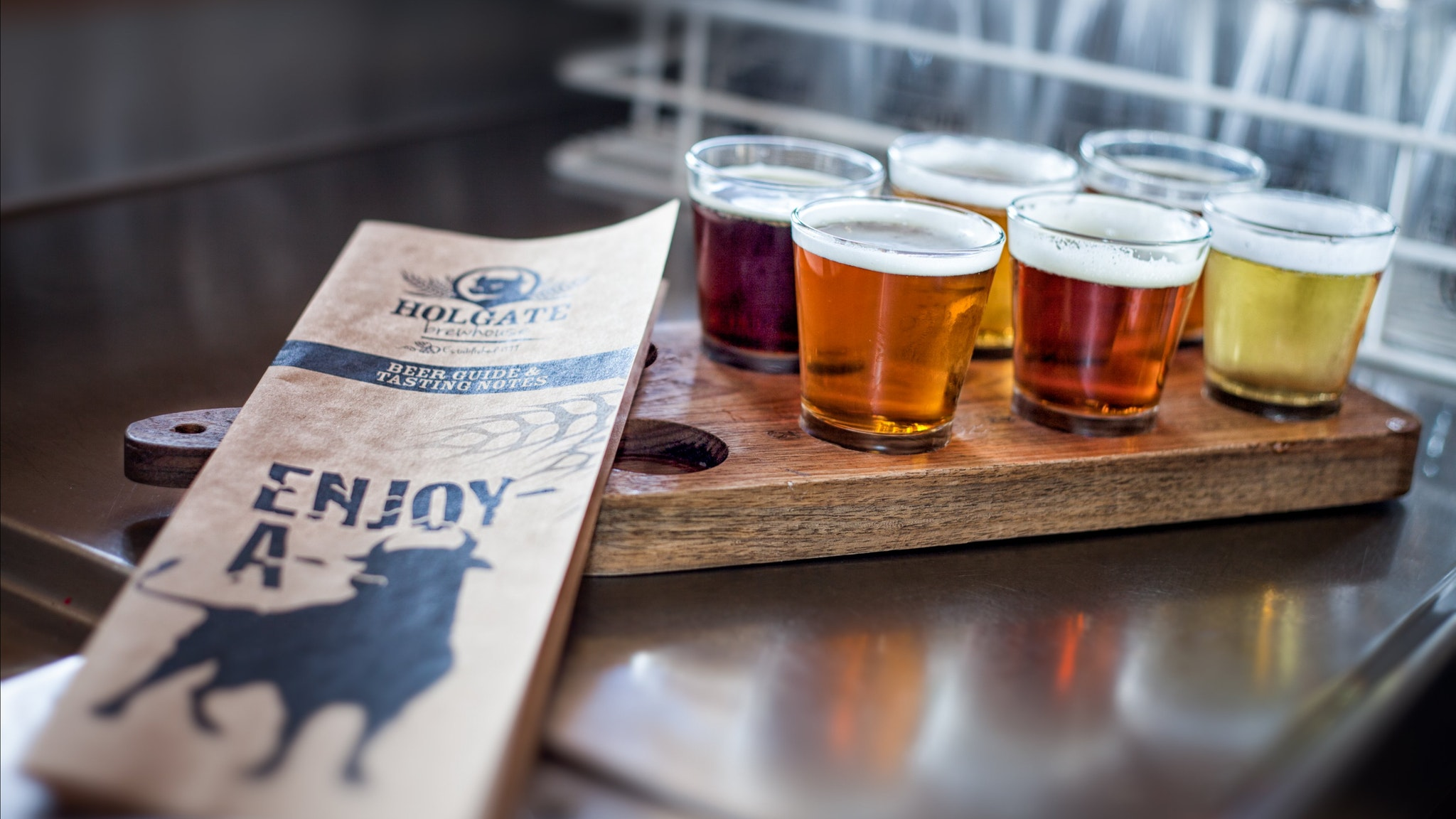 Try a paddle of Holgate beers