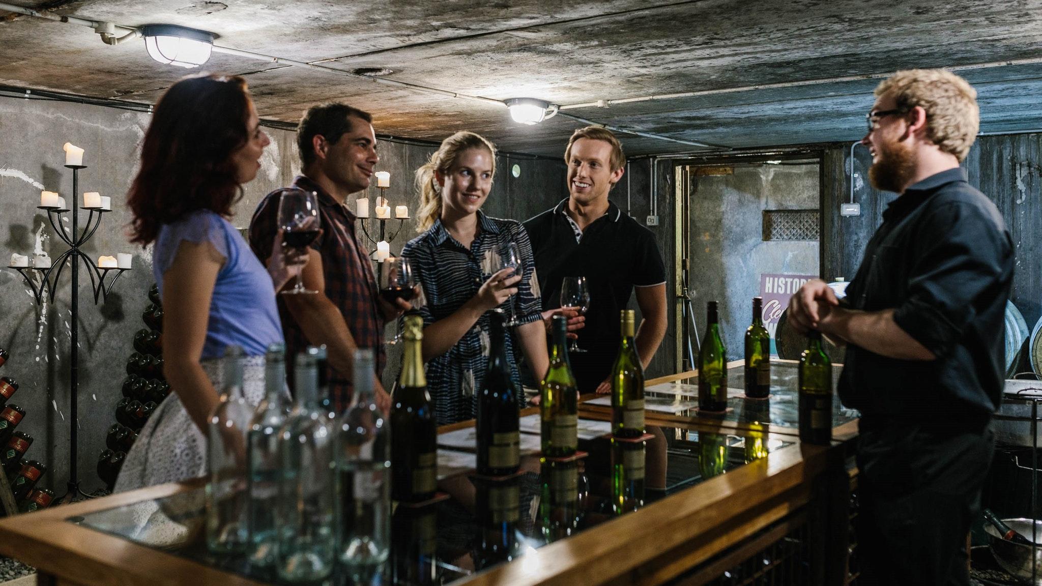 Tastings Underground Cellar door at Cleveland Winery