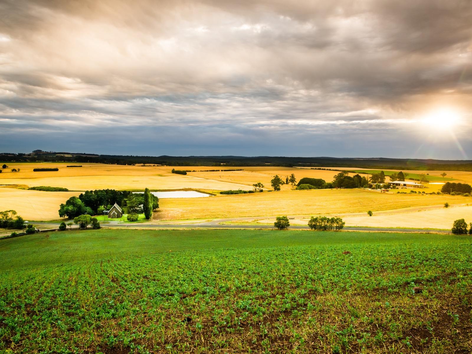 Scrub Hill 1869 nestled in farmland
