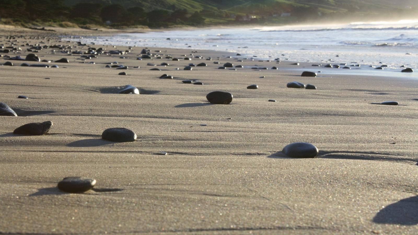 Apollo Bay Beach in morning
