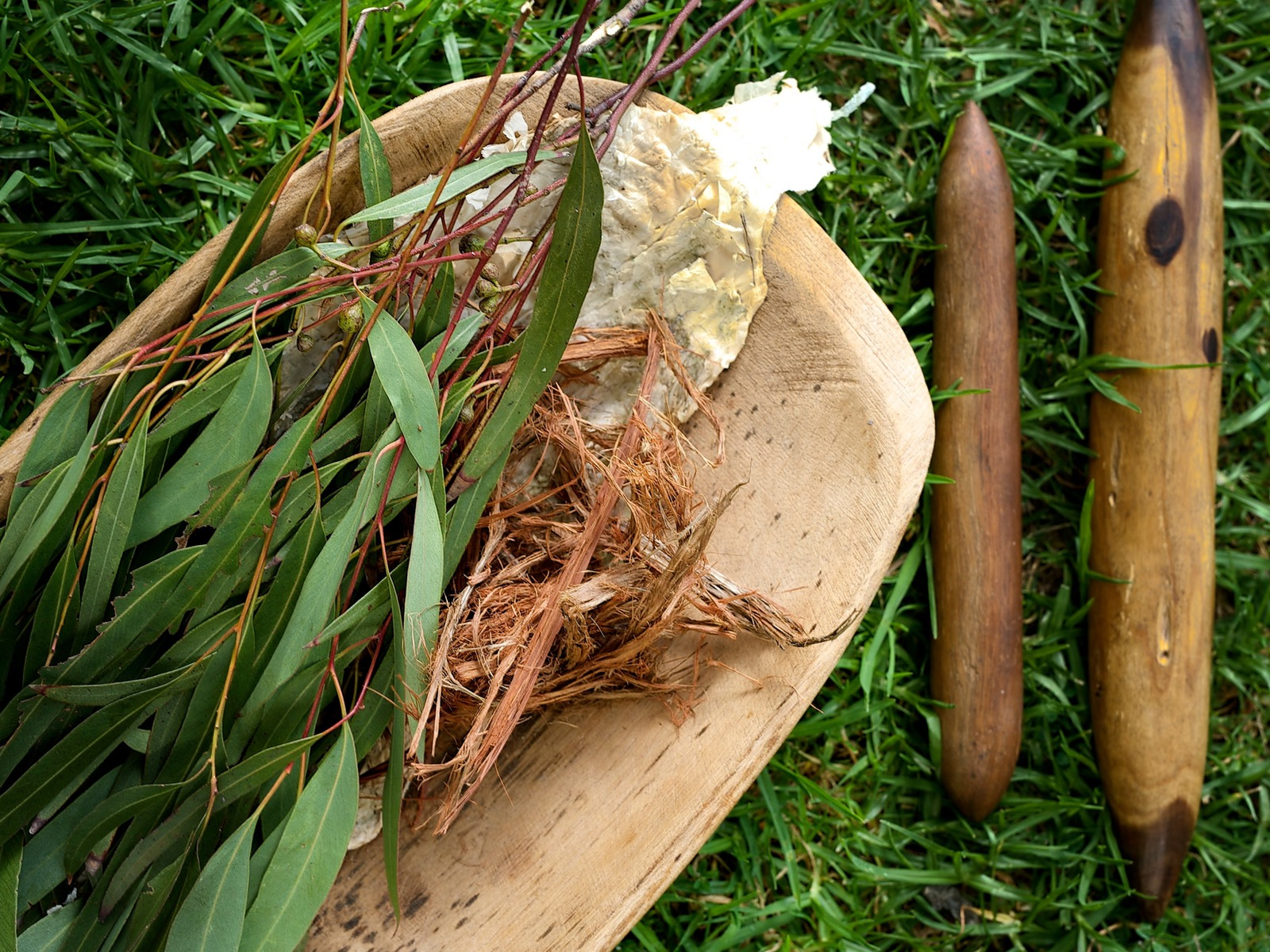 Materials used for traditional tanderum ceremony