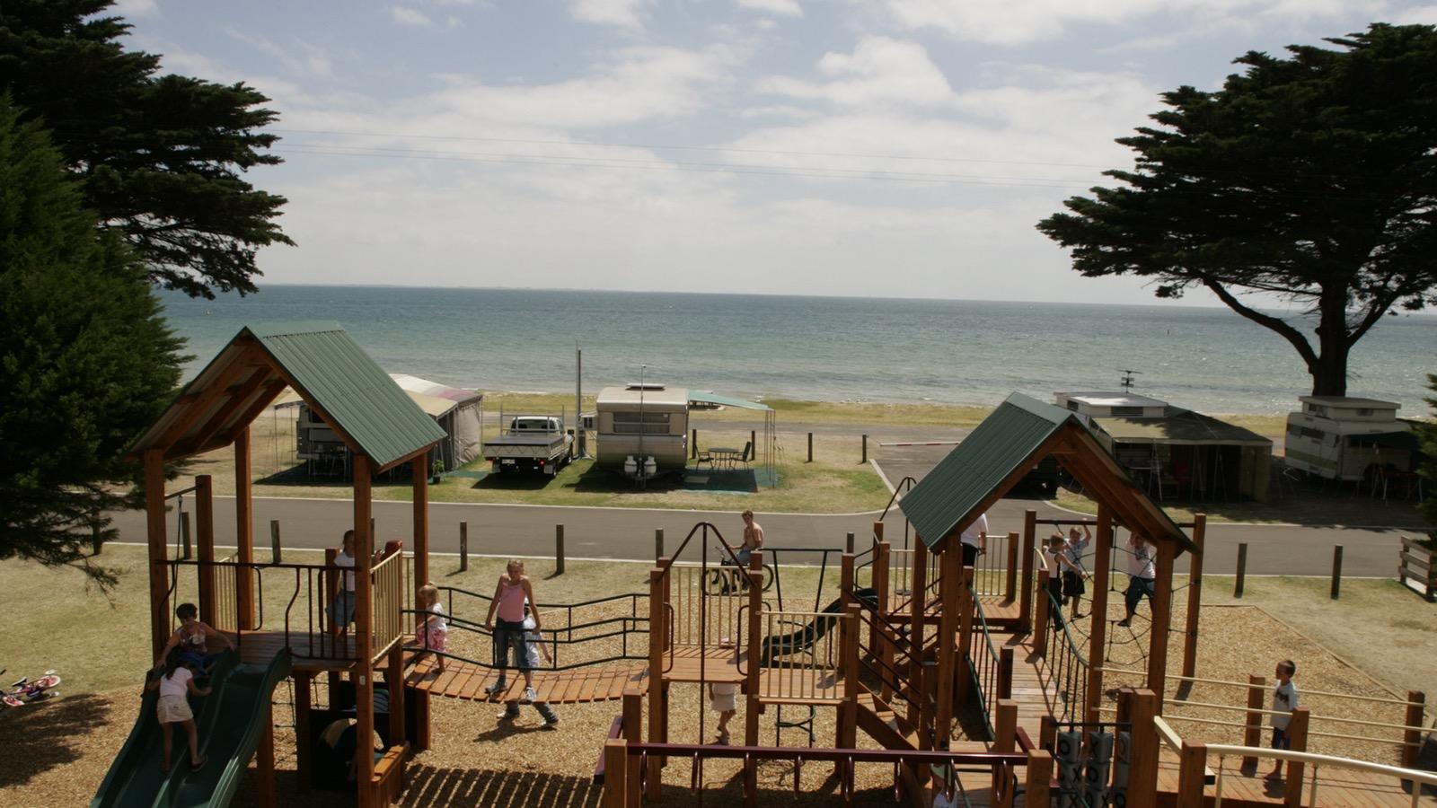 Kids Playground at Portarlington Holiday Park