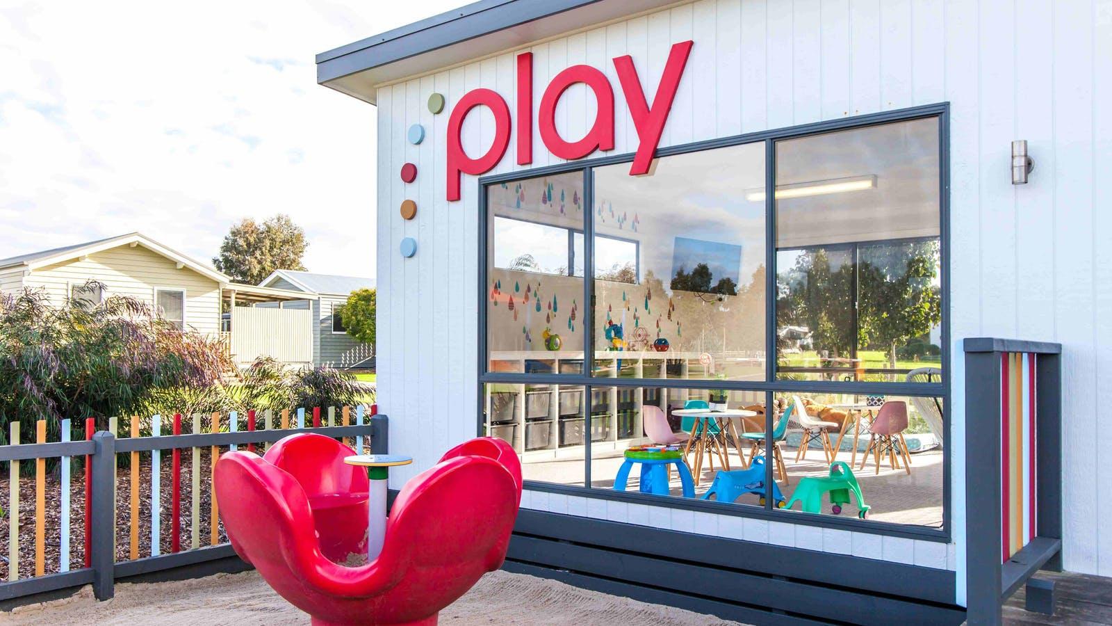Indoor toddler playroom