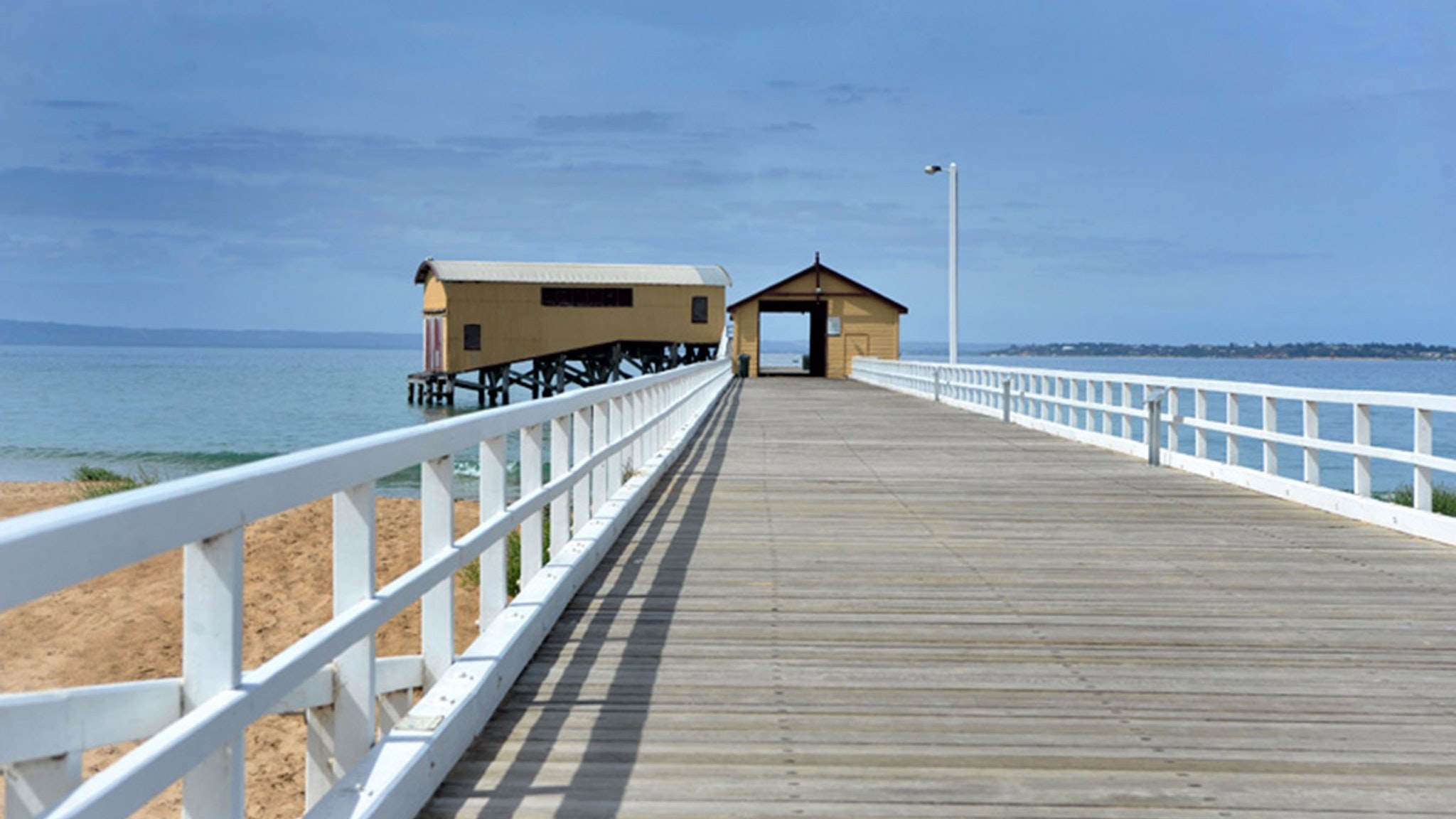 Queenscliff pier and waterfront accross the road from Clydesville