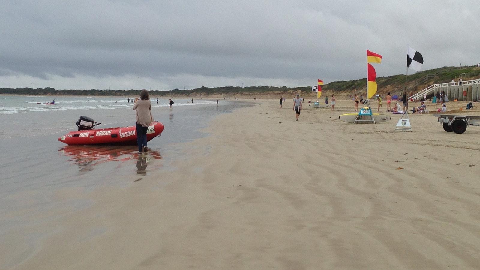 Swim and surf at main beach, Ocean Grove