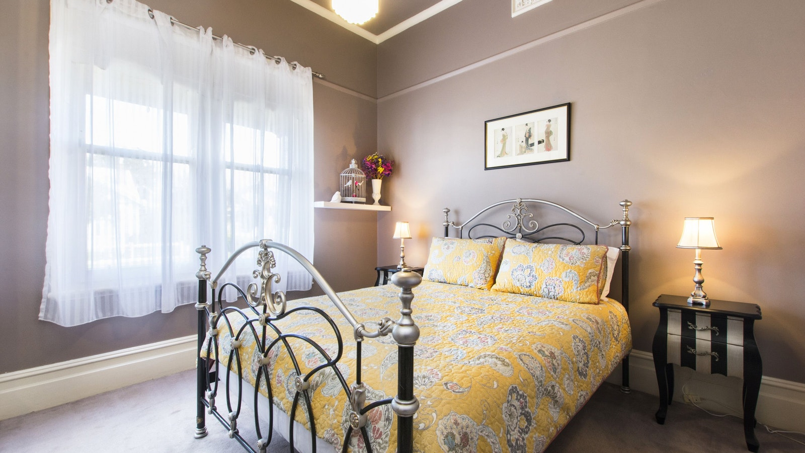 stunning second bedroom with delightful decor and quality bed linen