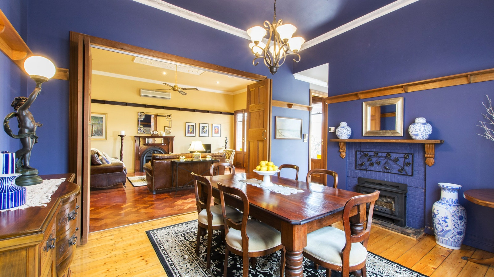 stunning formal dining room for intimate entertaining