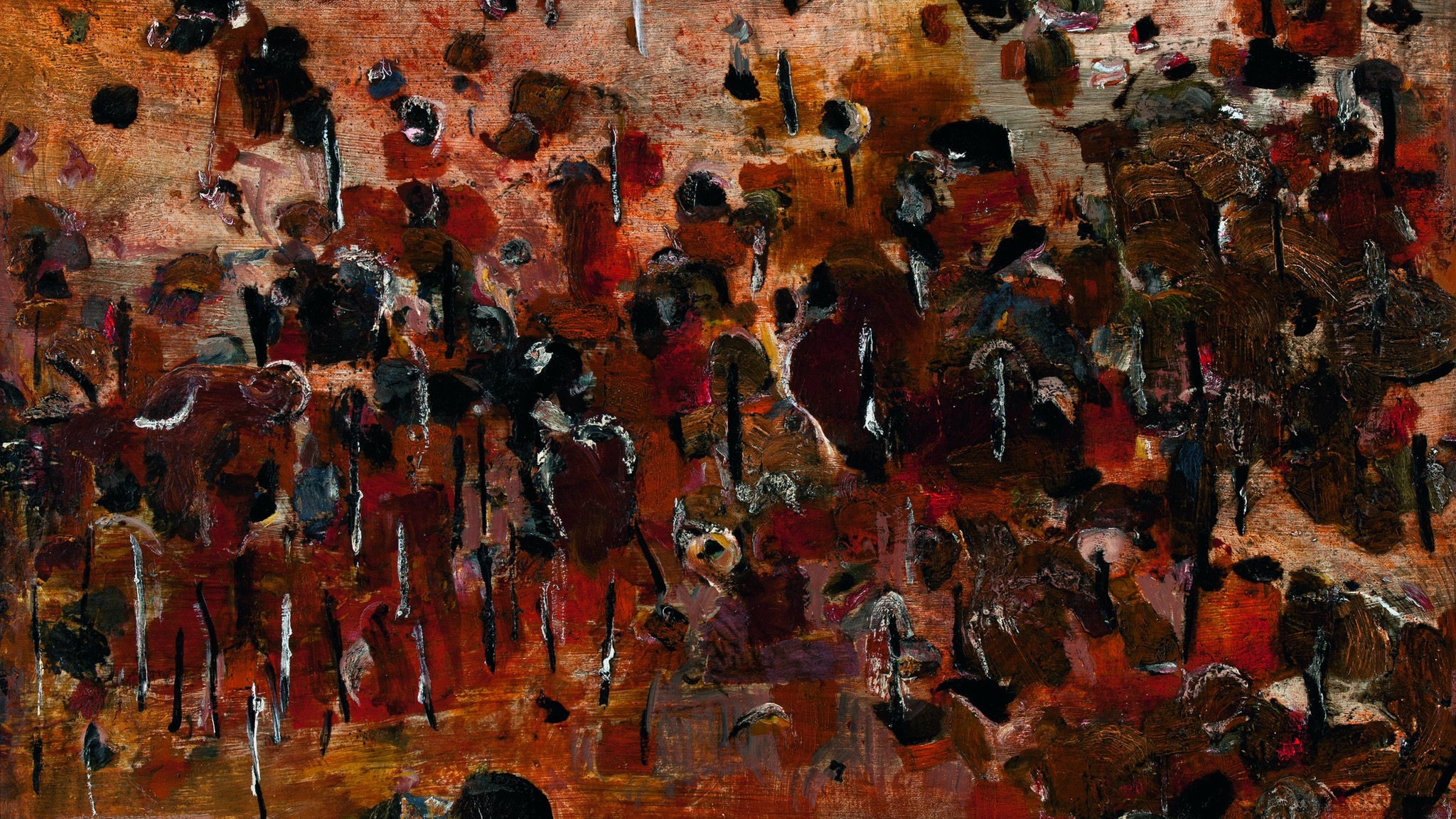 Fred Williams 'You Yang Pond' (detail) 1963. Art Gallery of South Australia