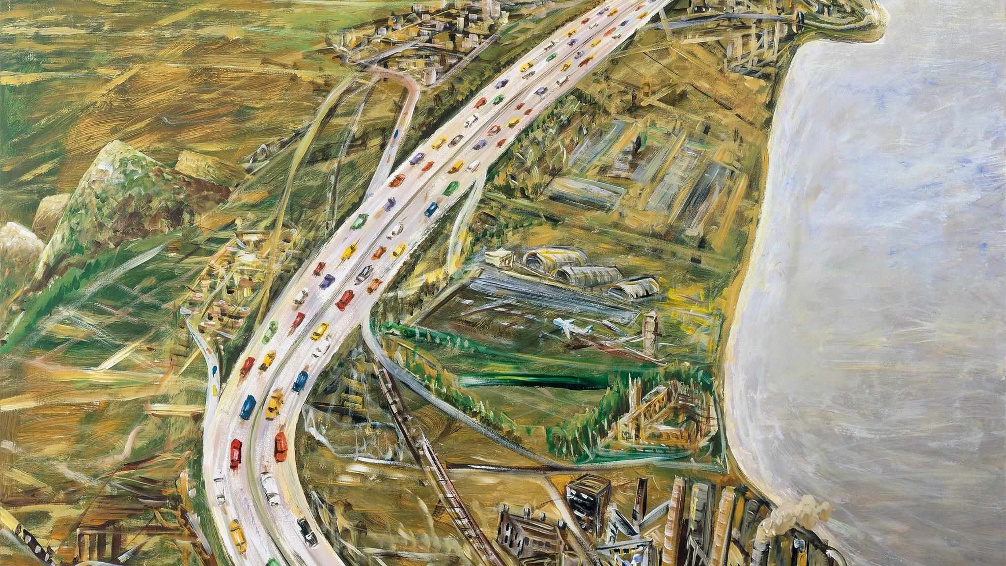 Jan Senbergs The Geelong Road  2004