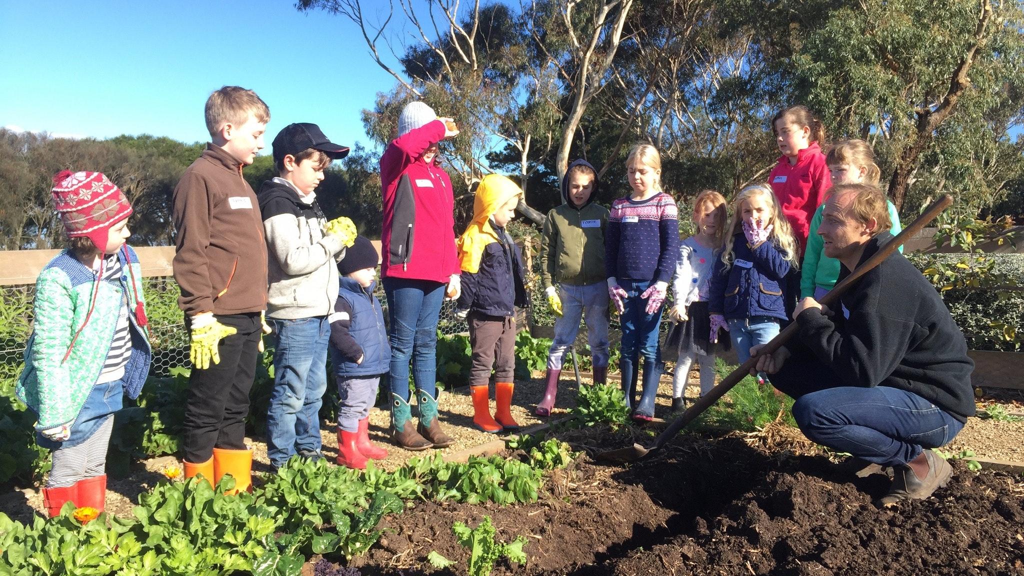 Kids Gardening at Basils Farm