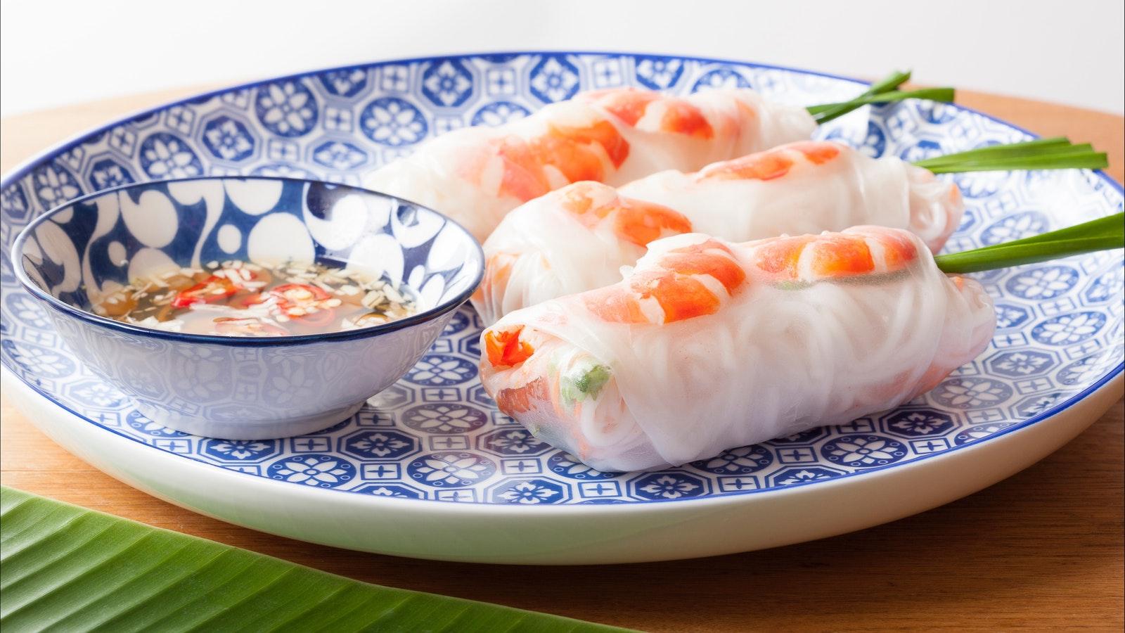 Pork and Prawn Rice Paper Roll