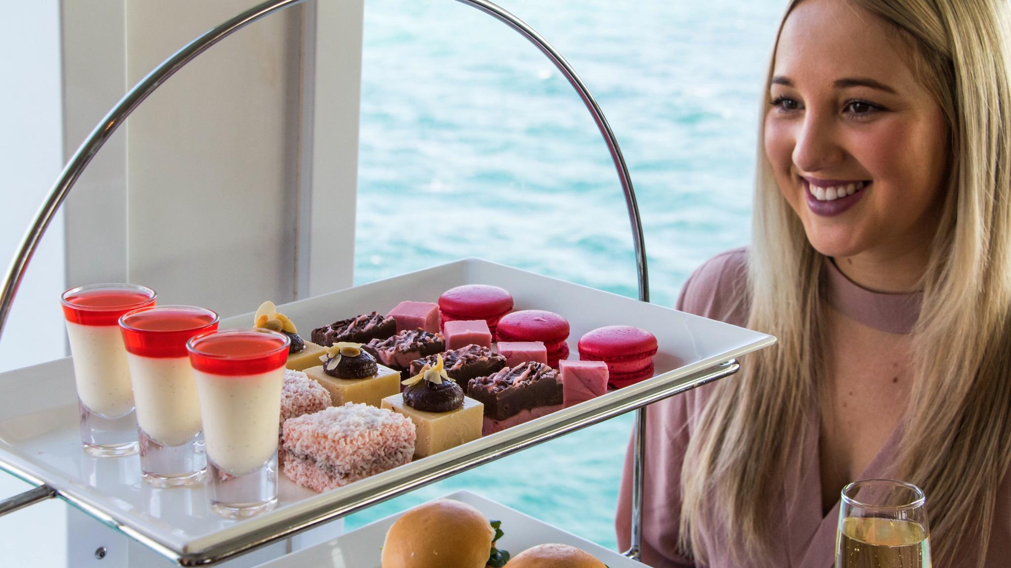 Enjoying High Tea onboard the ferries