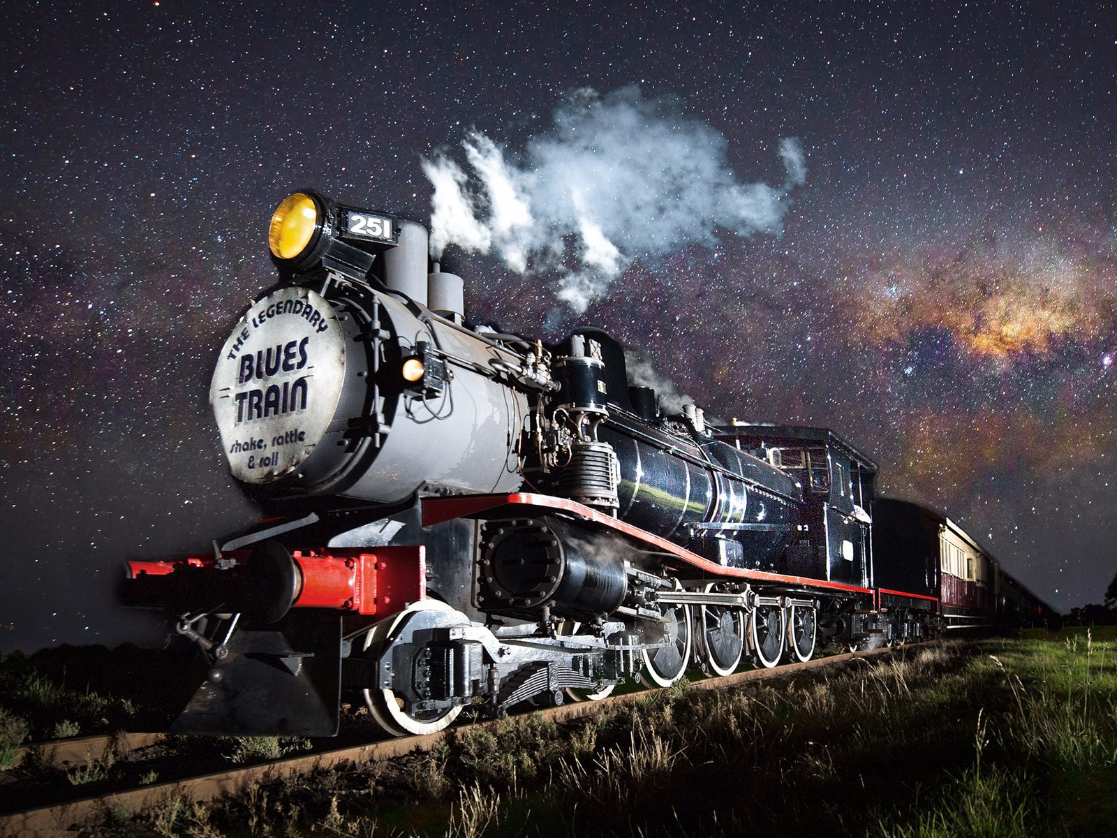 The Blues Train steaming through the Bellarine