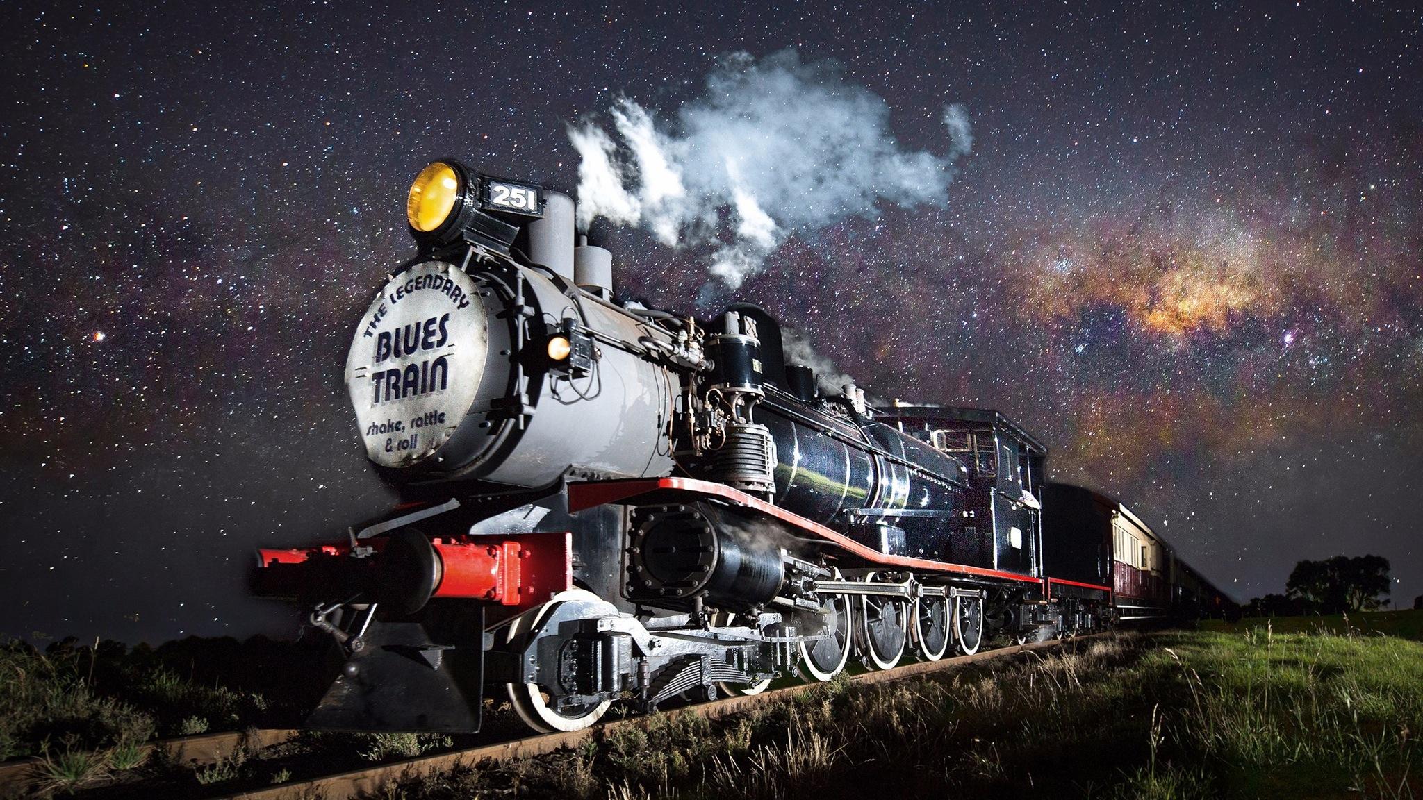 The Blues Train steaming through the Bellarine