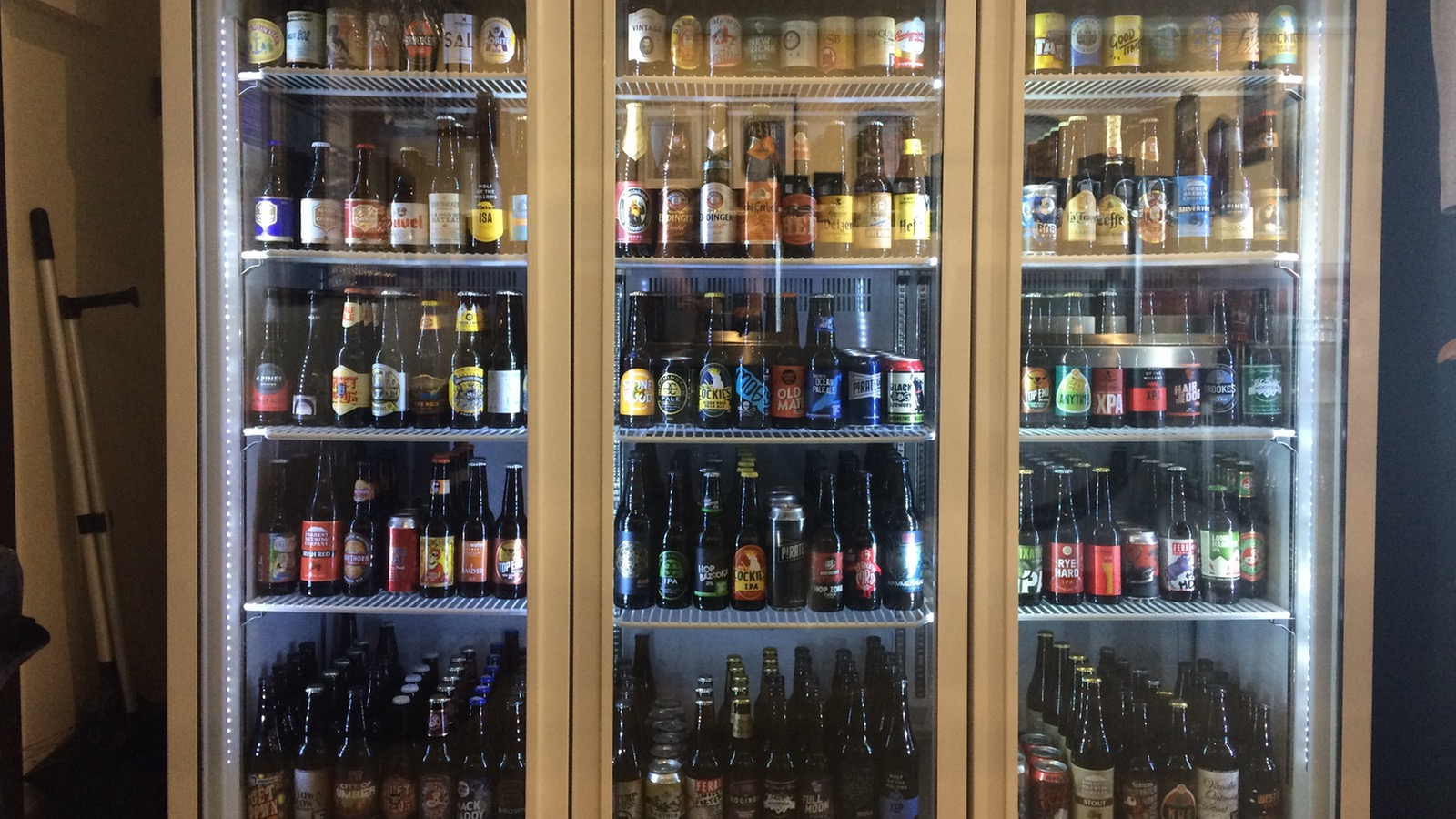 Over 100 different craft beers