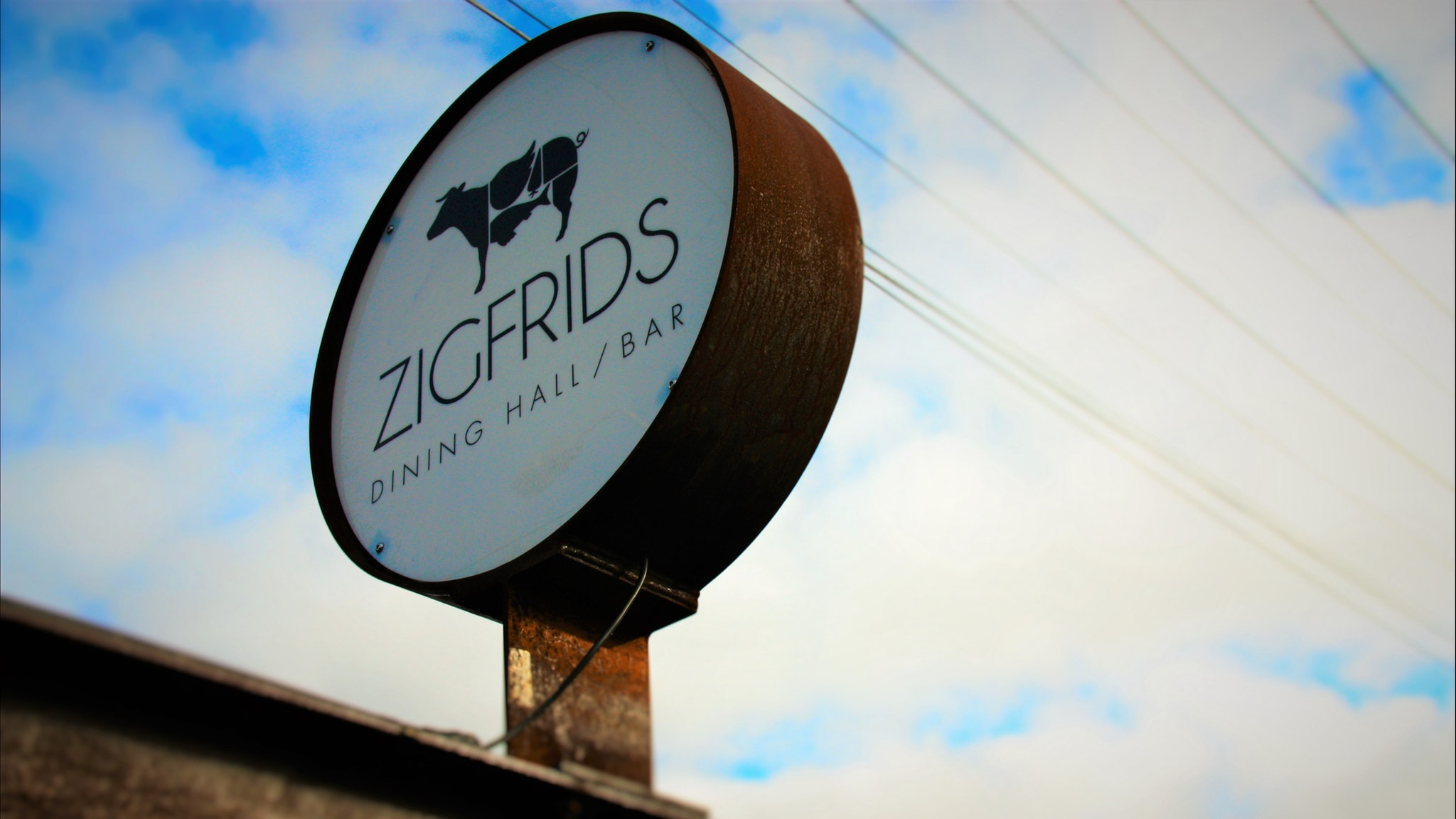 Zigfrids Front Sign