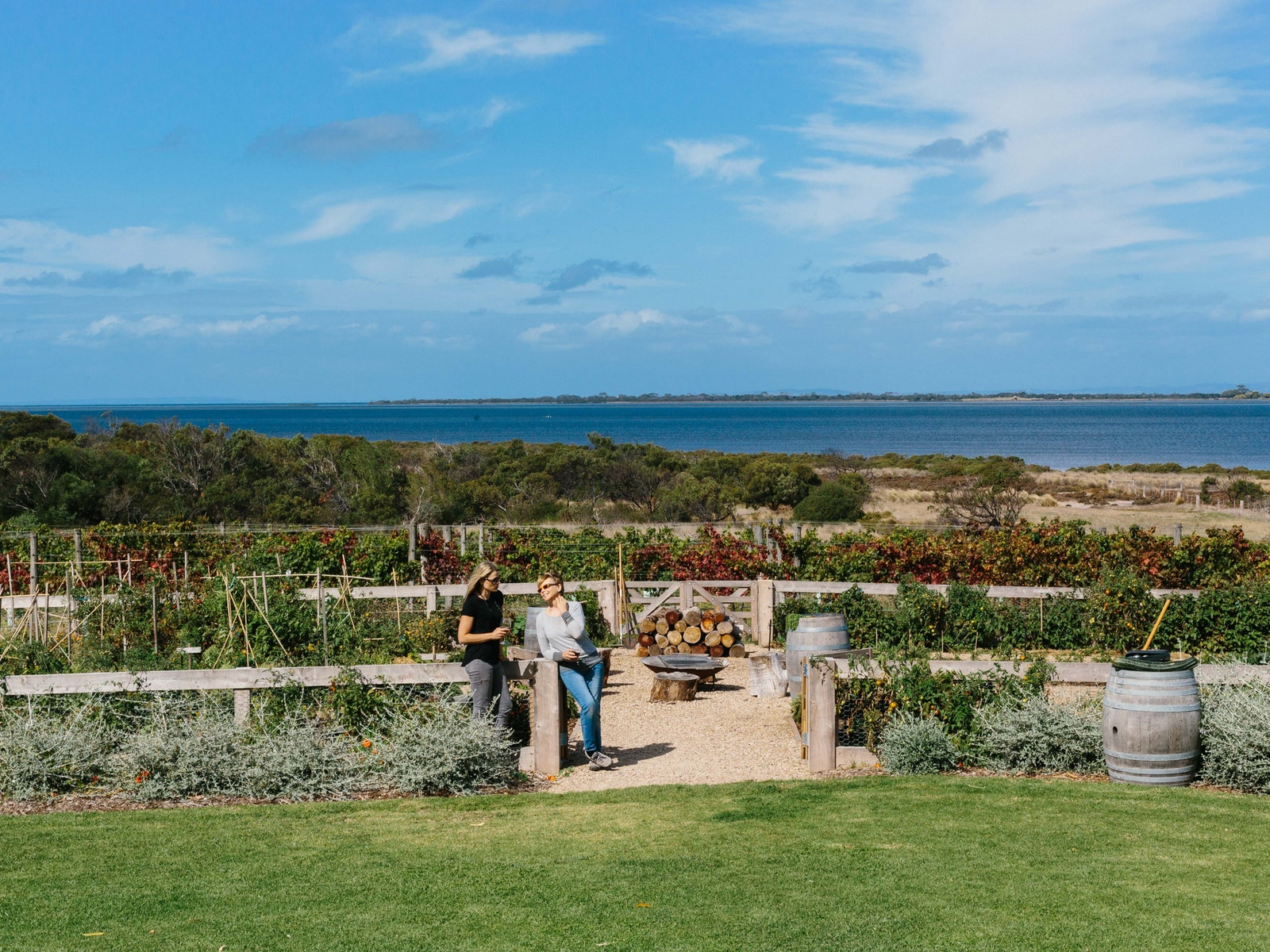 Basils Farm - View over Swan Bay