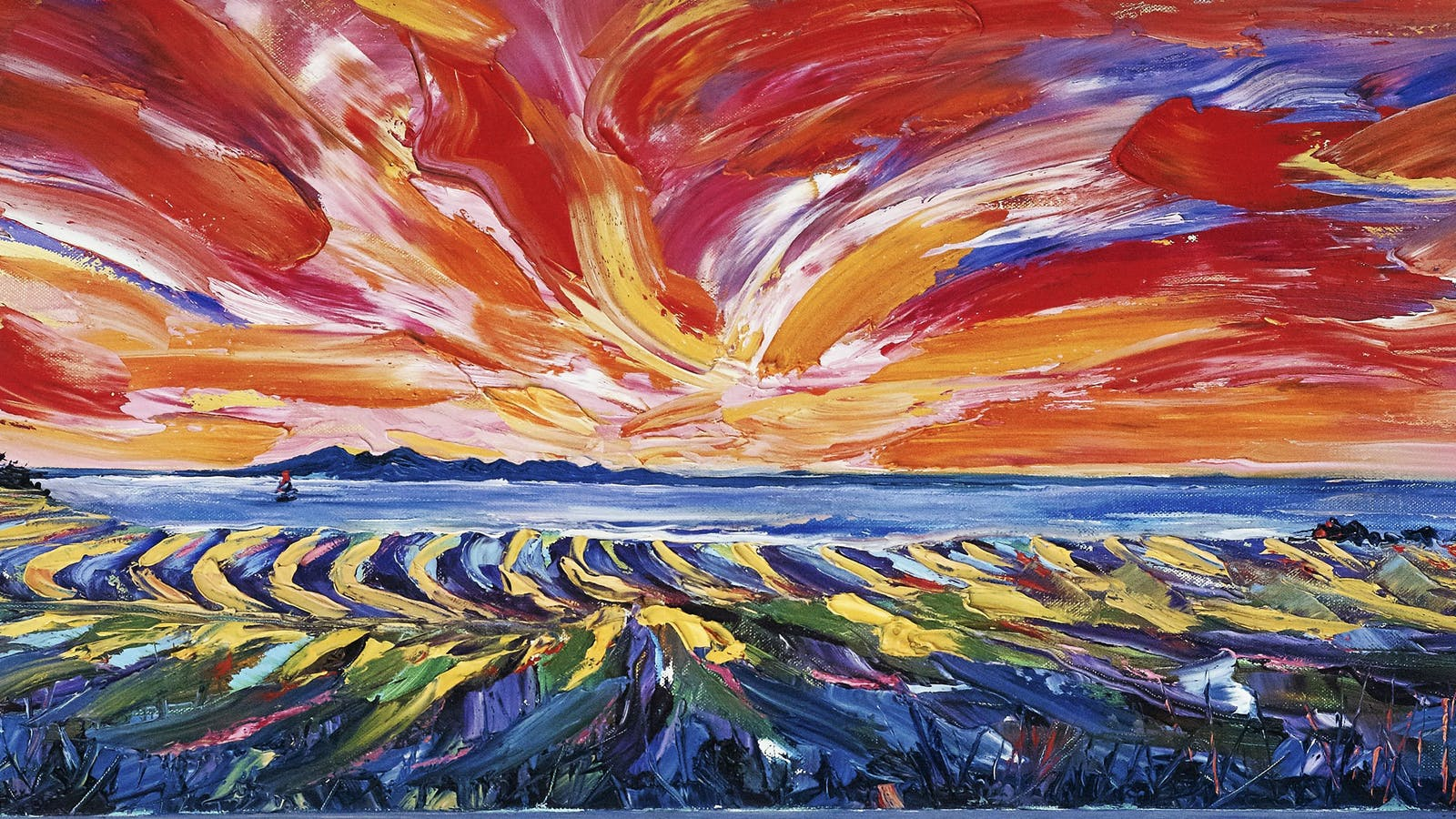 Bellarine Canola Field Oil Painting