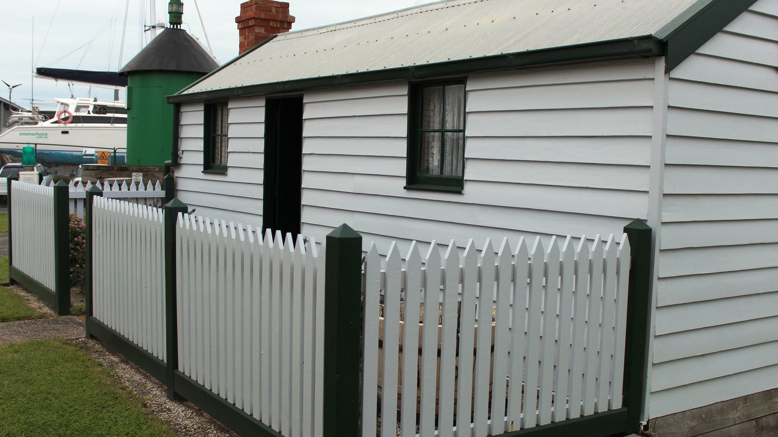 Original cottage in museum grounds.