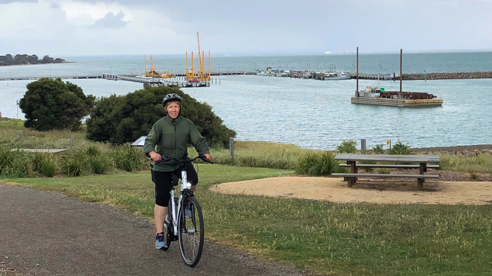 Portarlington Pier from the Esplanade bike path