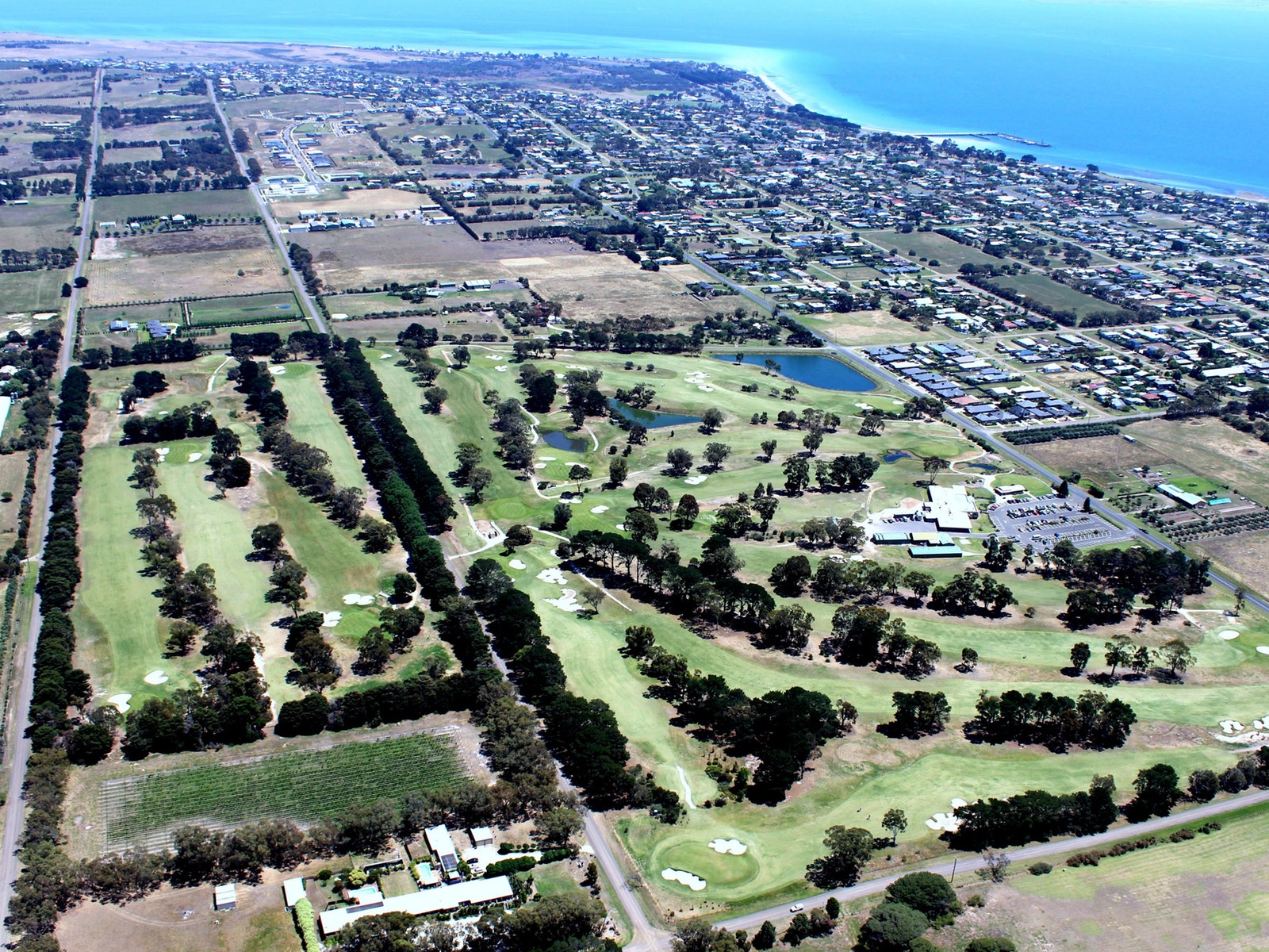 Port Golf Club from above