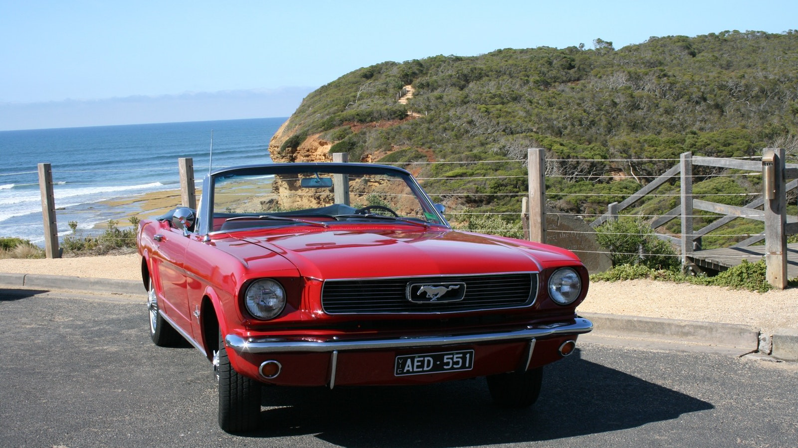 Mustang at Bells Beach