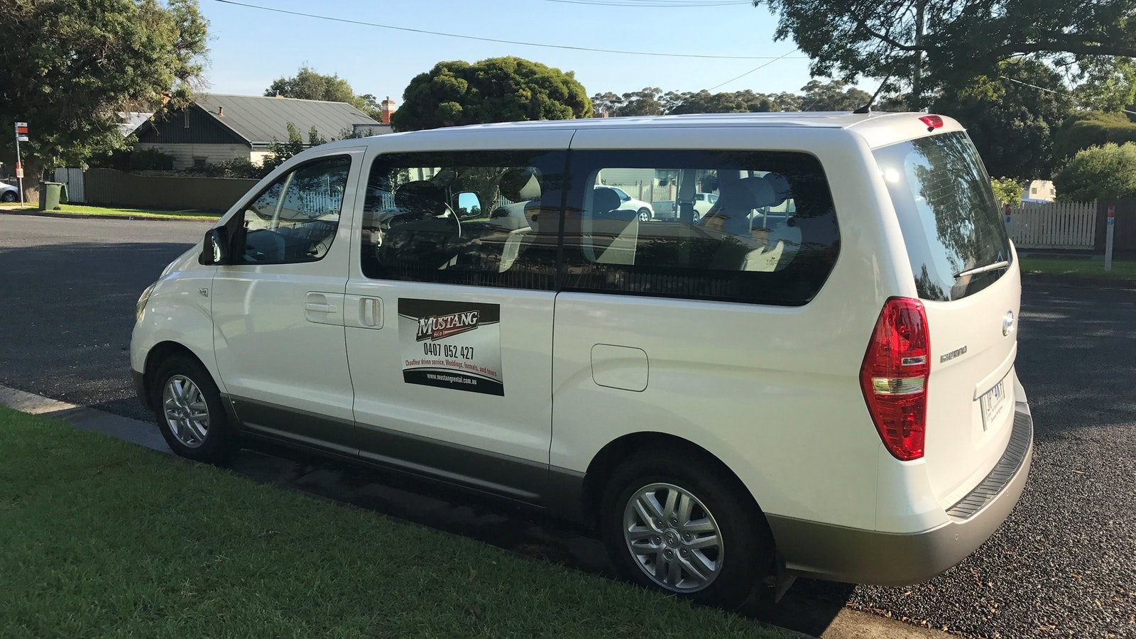 Mustang Mover or Mini Bus available for larger groups