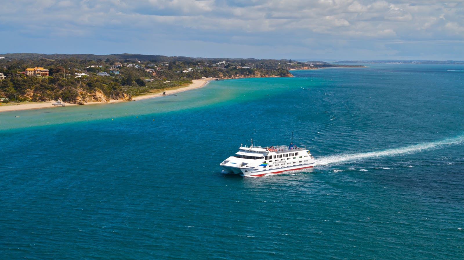 Searoad ferries cruising beautiful Port Phillip Bay