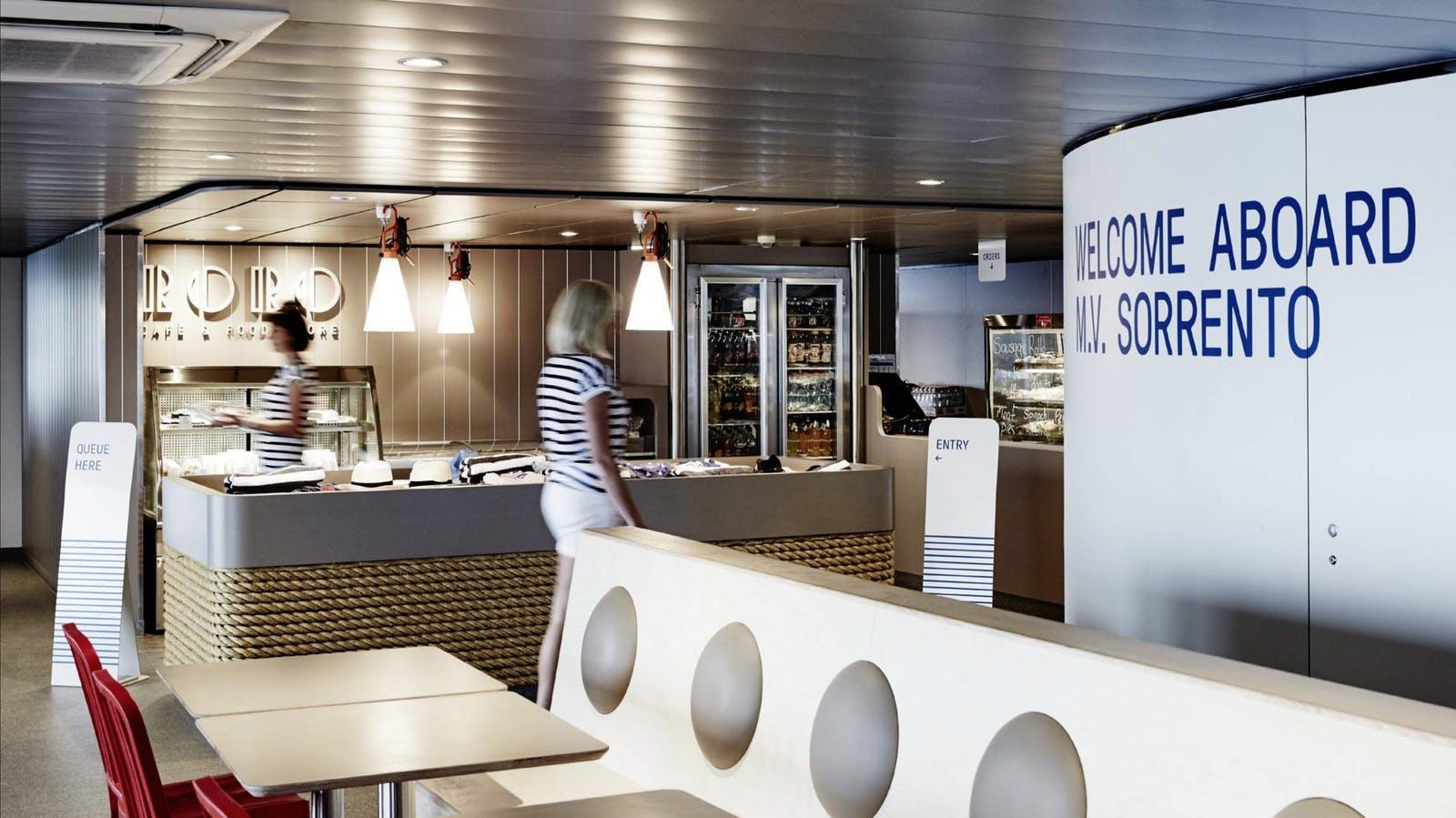 Searoad Ferries onboard cafe