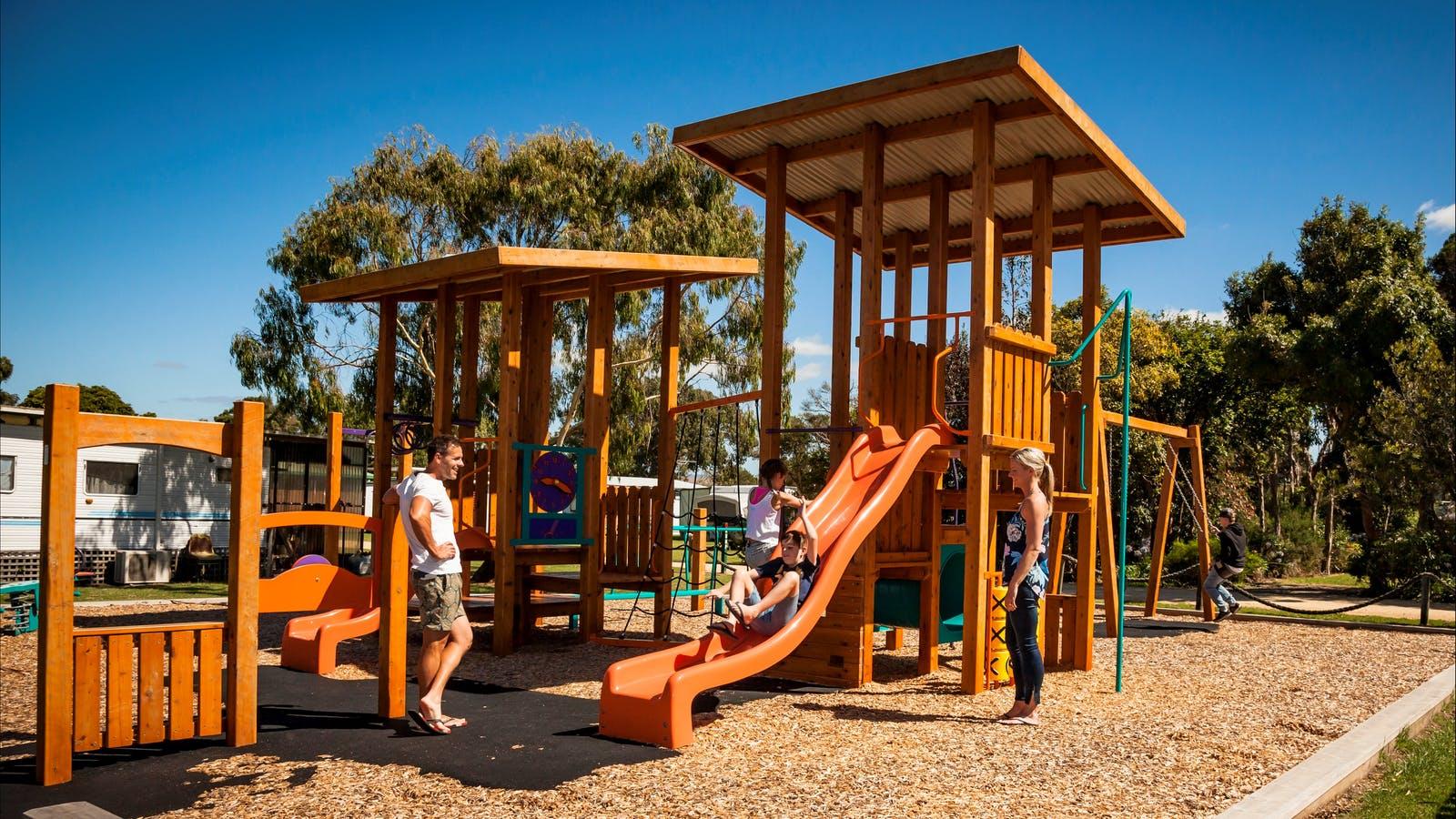Playground Long Jetty Foreshore Caravan Park