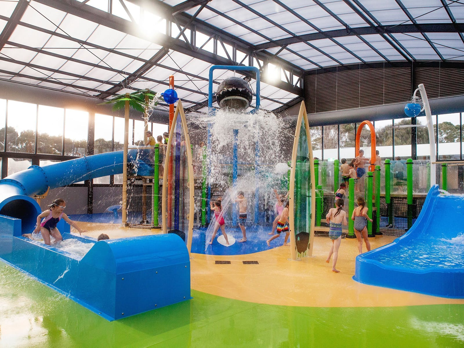 Indoor heated water park