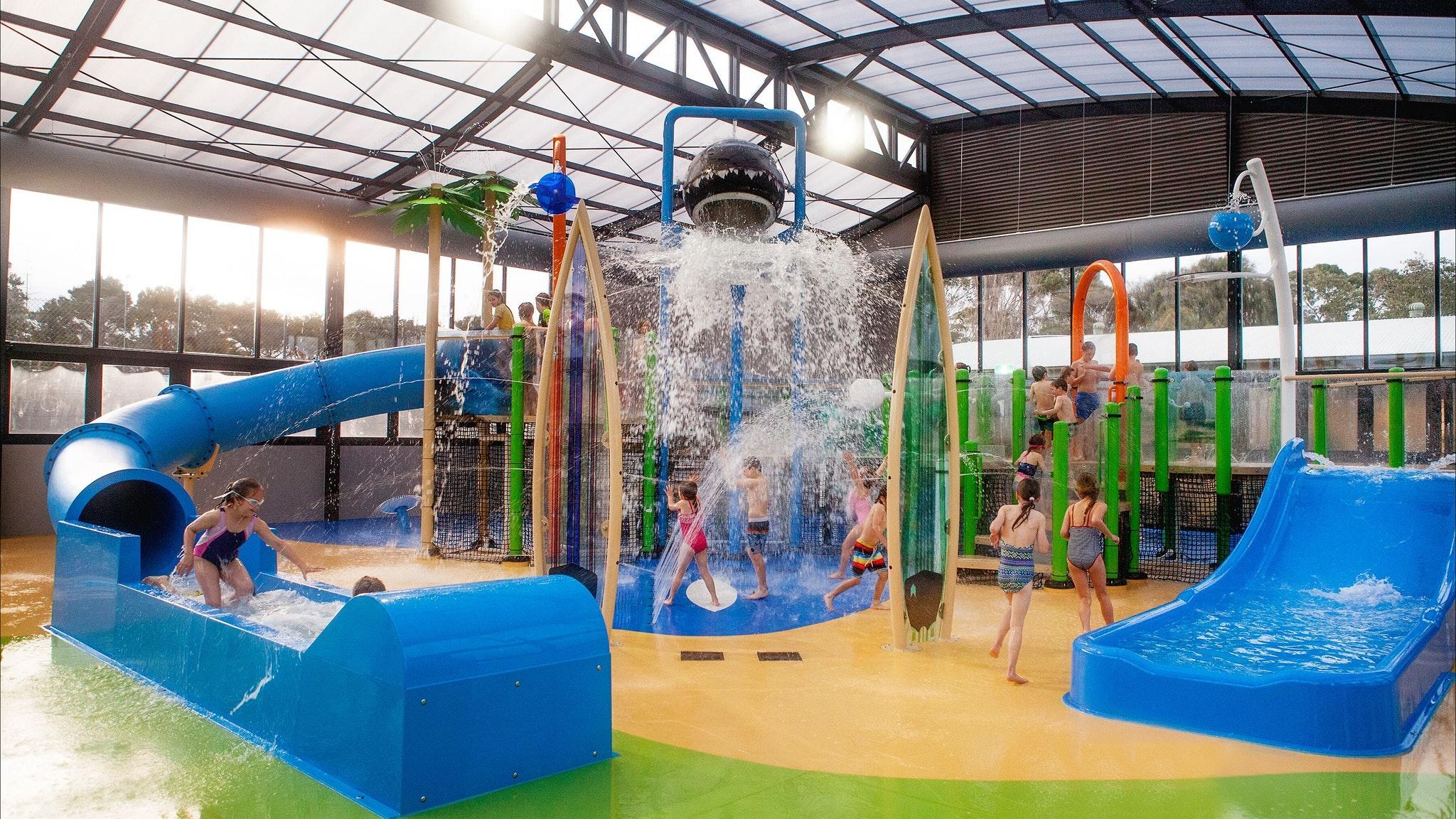 Indoor heated water park